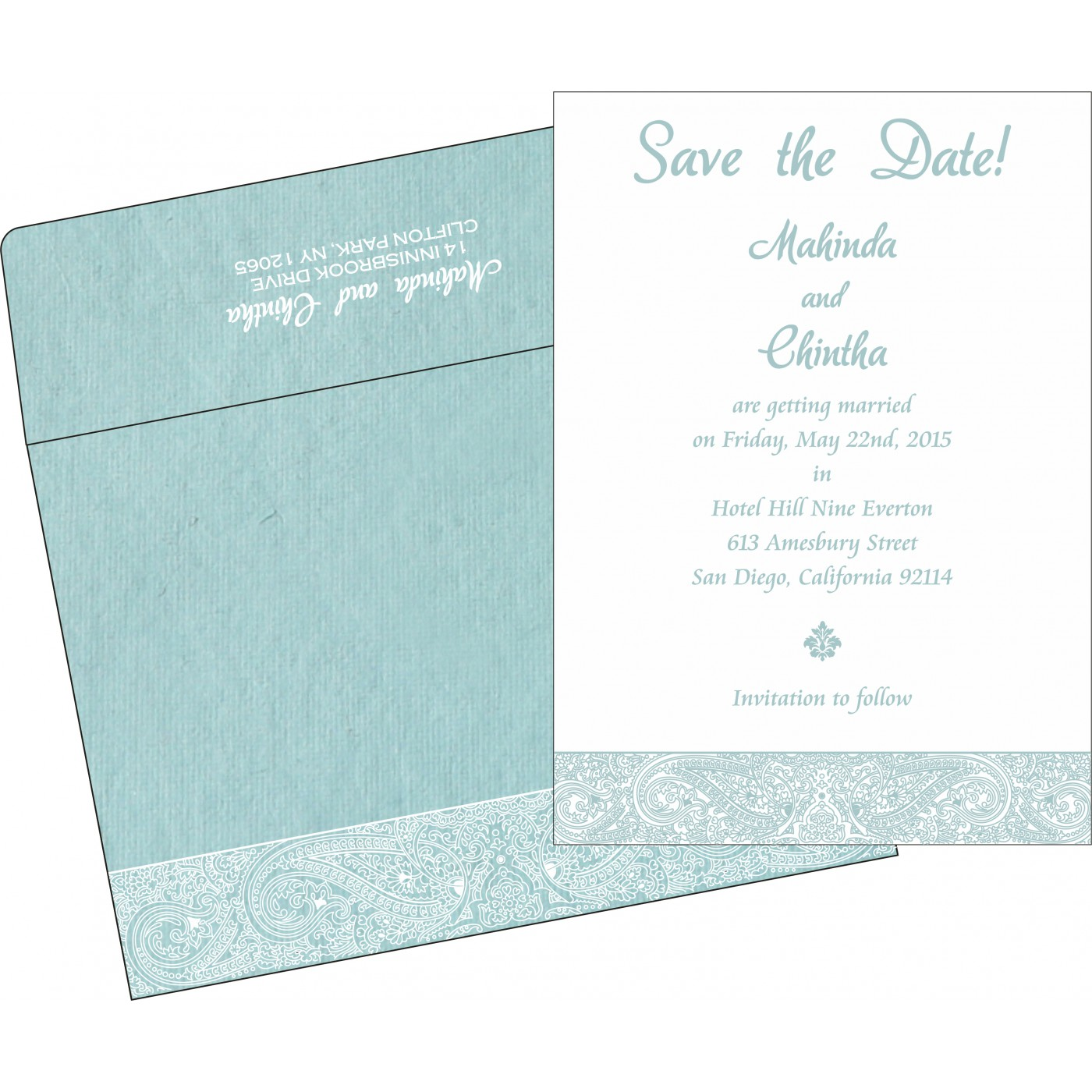 Save The Date : CSTD-8234E - IndianWeddingCards