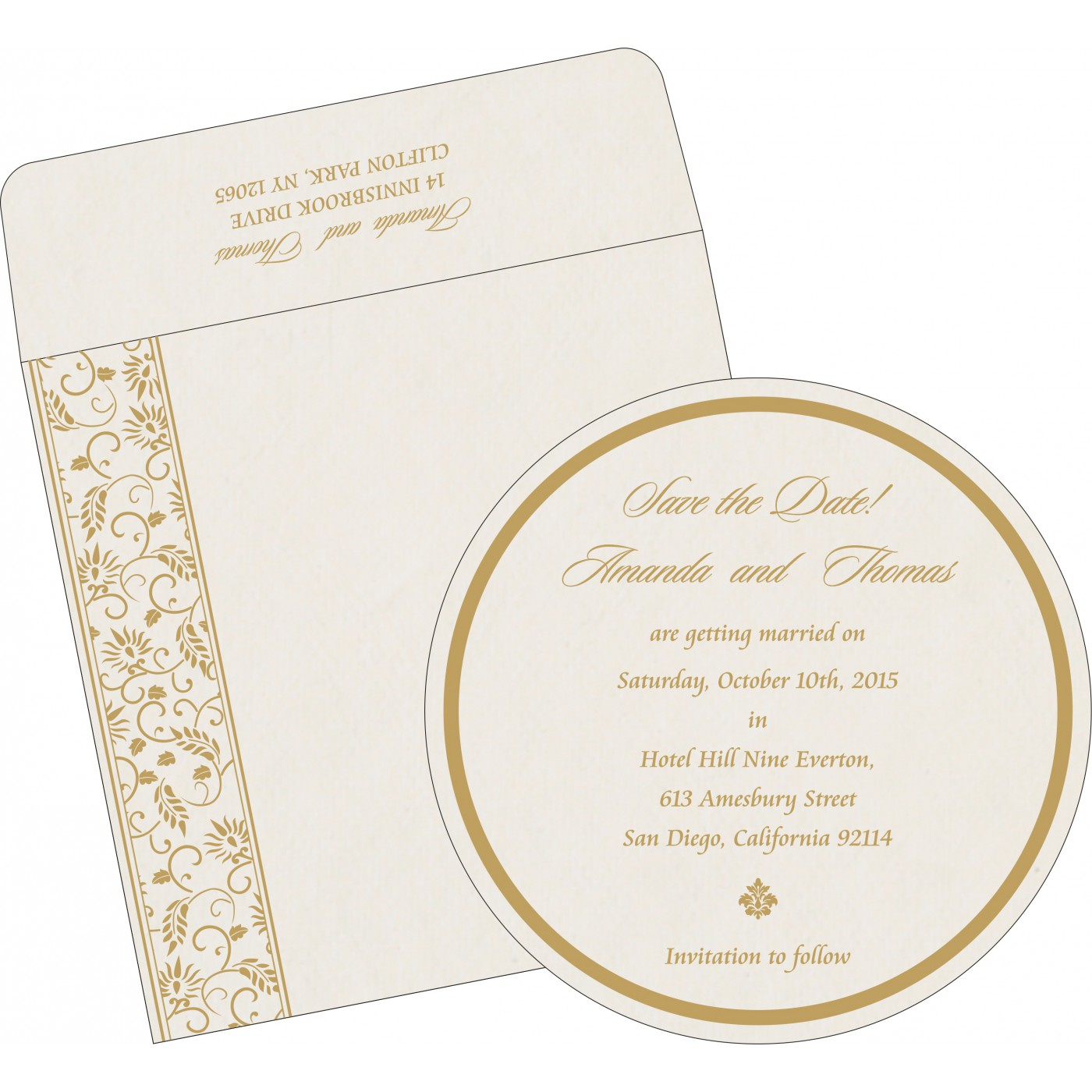 Save The Date : CSTD-8236B - IndianWeddingCards
