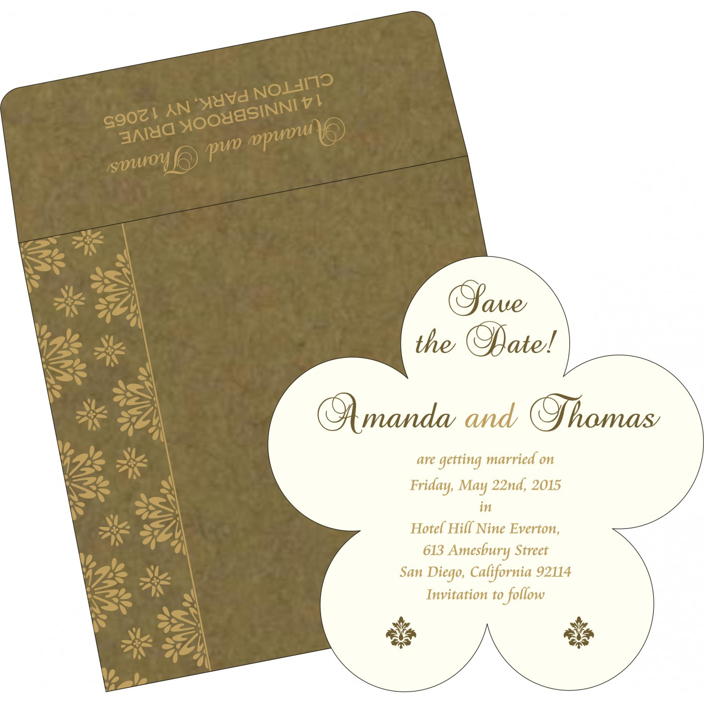 Save The Date : CSTD-8237E - IndianWeddingCards