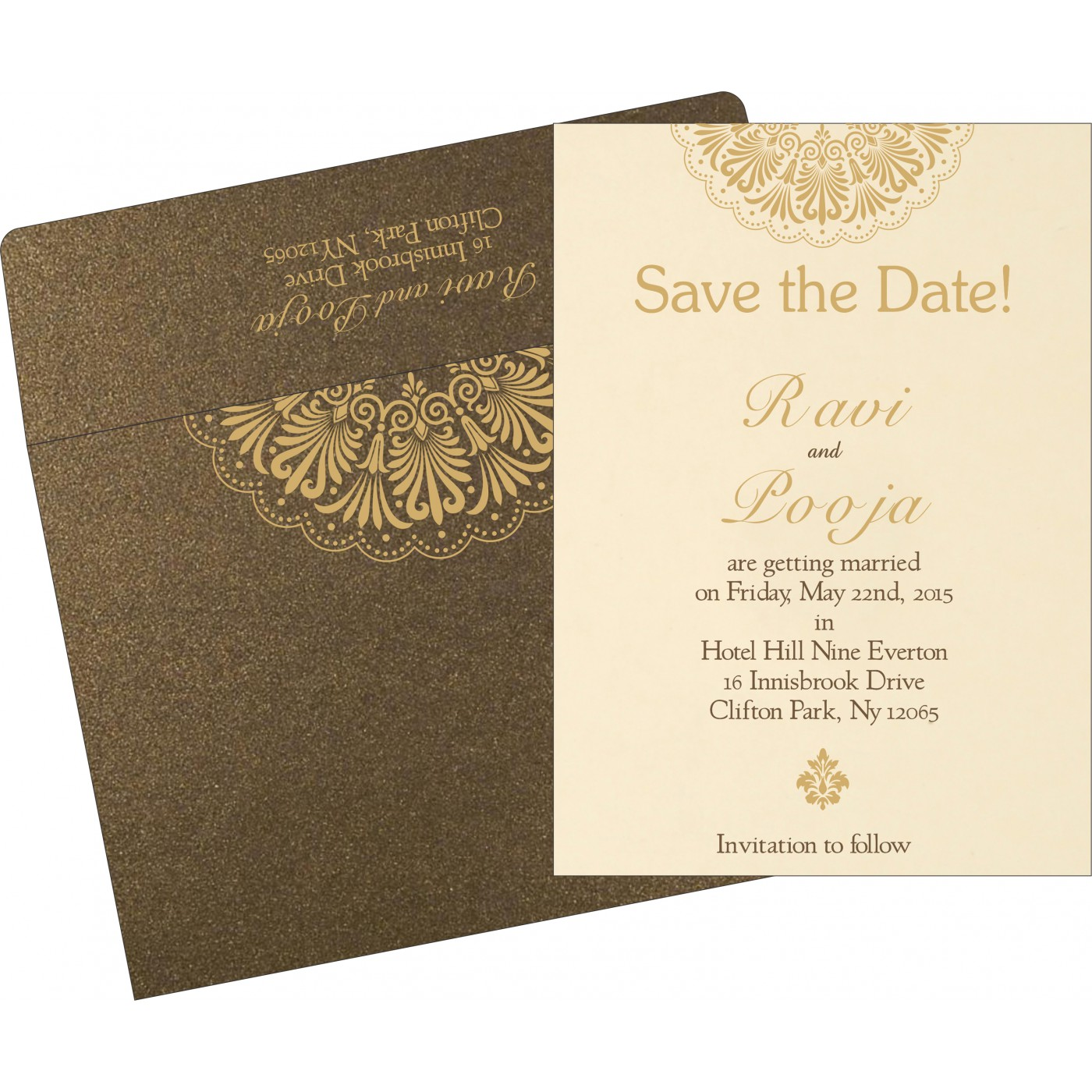 Save The Date : CSTD-8238G - IndianWeddingCards
