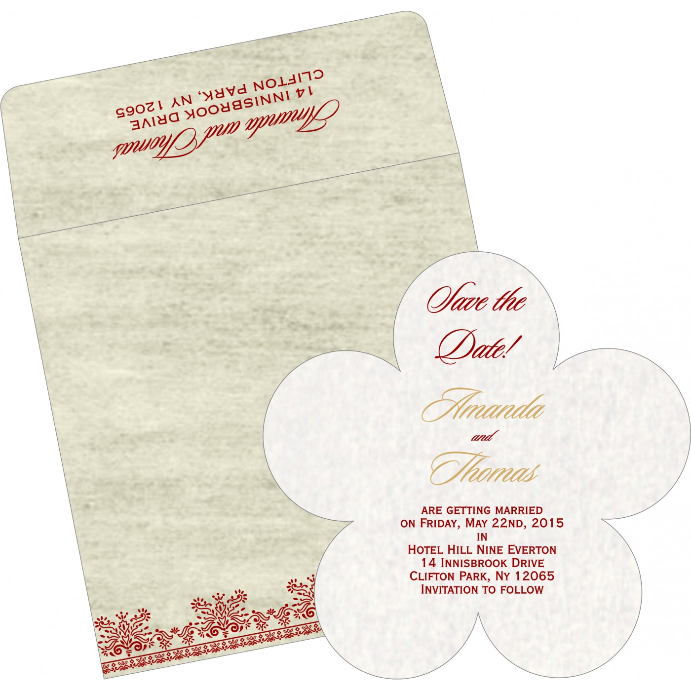 Save The Date : CSTD-8241B - IndianWeddingCards