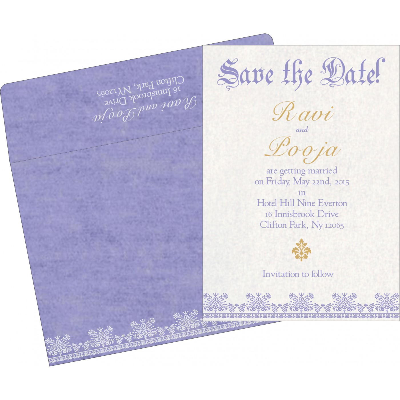 Save The Date : CSTD-8241D - IndianWeddingCards