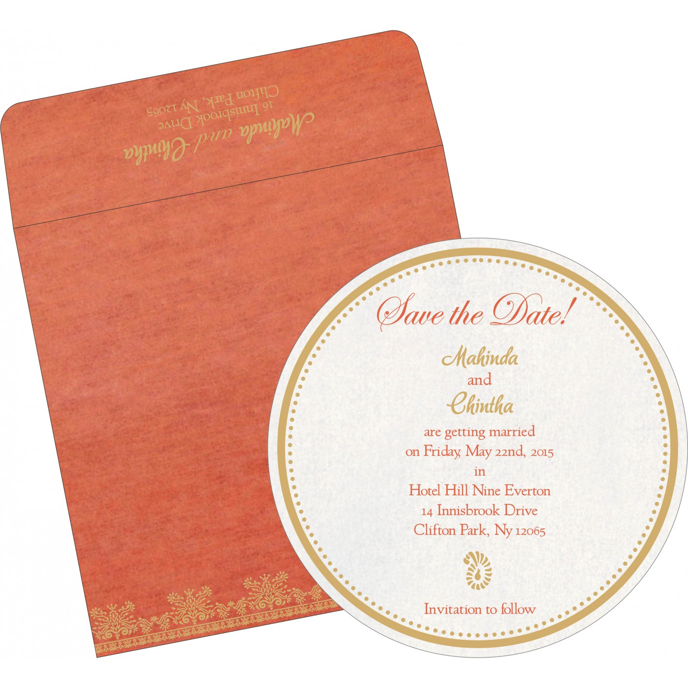 Save The Date : CSTD-8241K - IndianWeddingCards