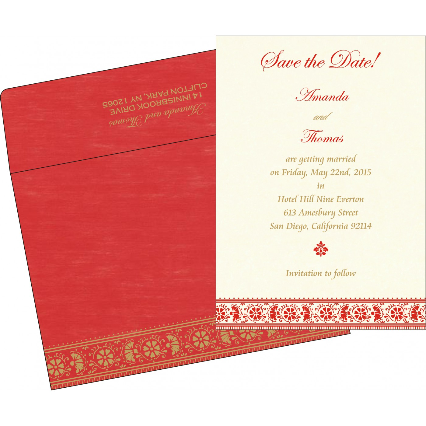 Save The Date : CSTD-8242A - IndianWeddingCards