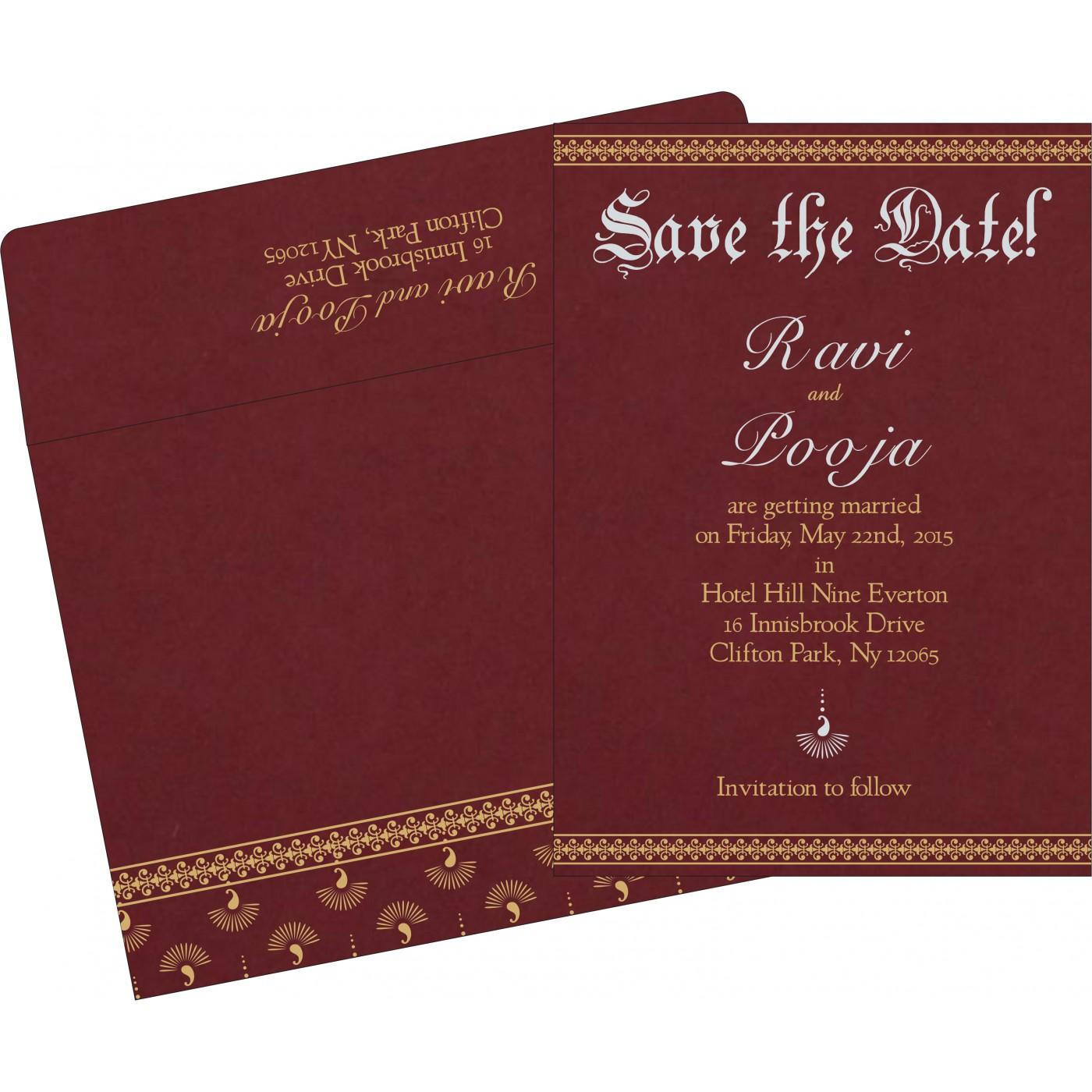 Save The Date : CSTD-8247D - IndianWeddingCards