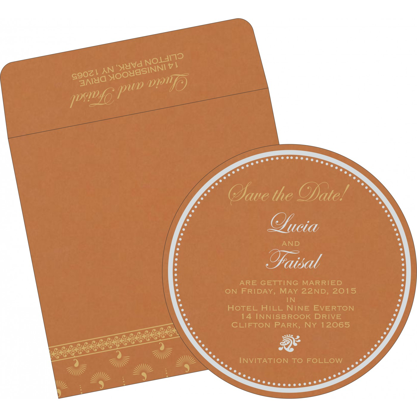 Save The Date : CSTD-8247F - IndianWeddingCards