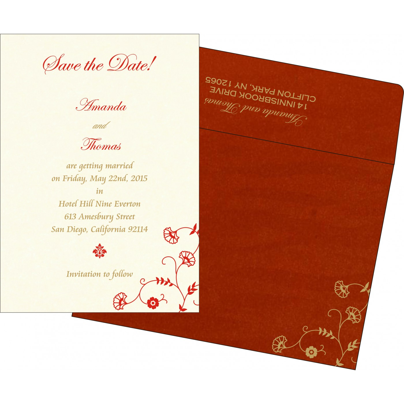 Save The Date : CSTD-8248A - IndianWeddingCards