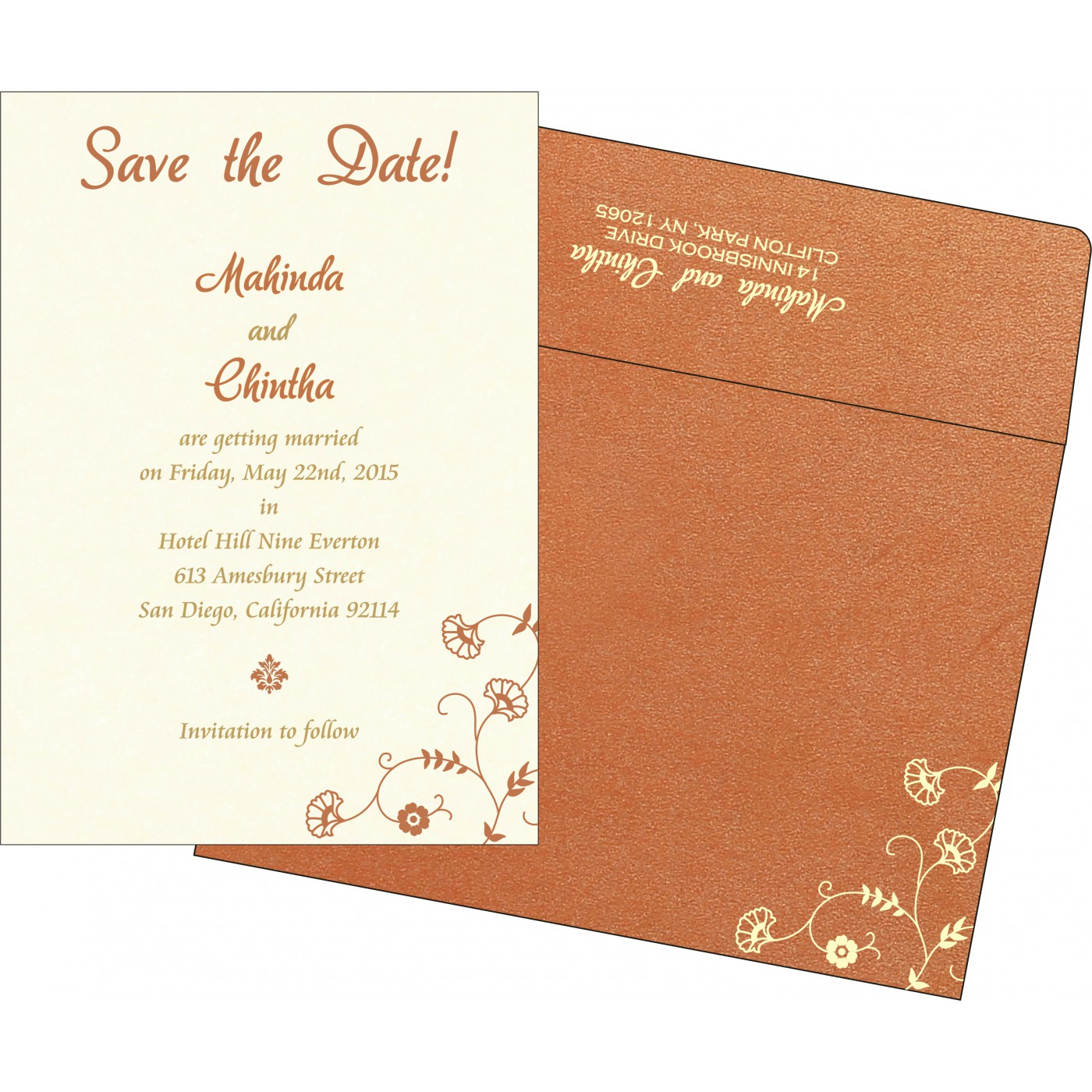 Save The Date : CSTD-8248E - IndianWeddingCards