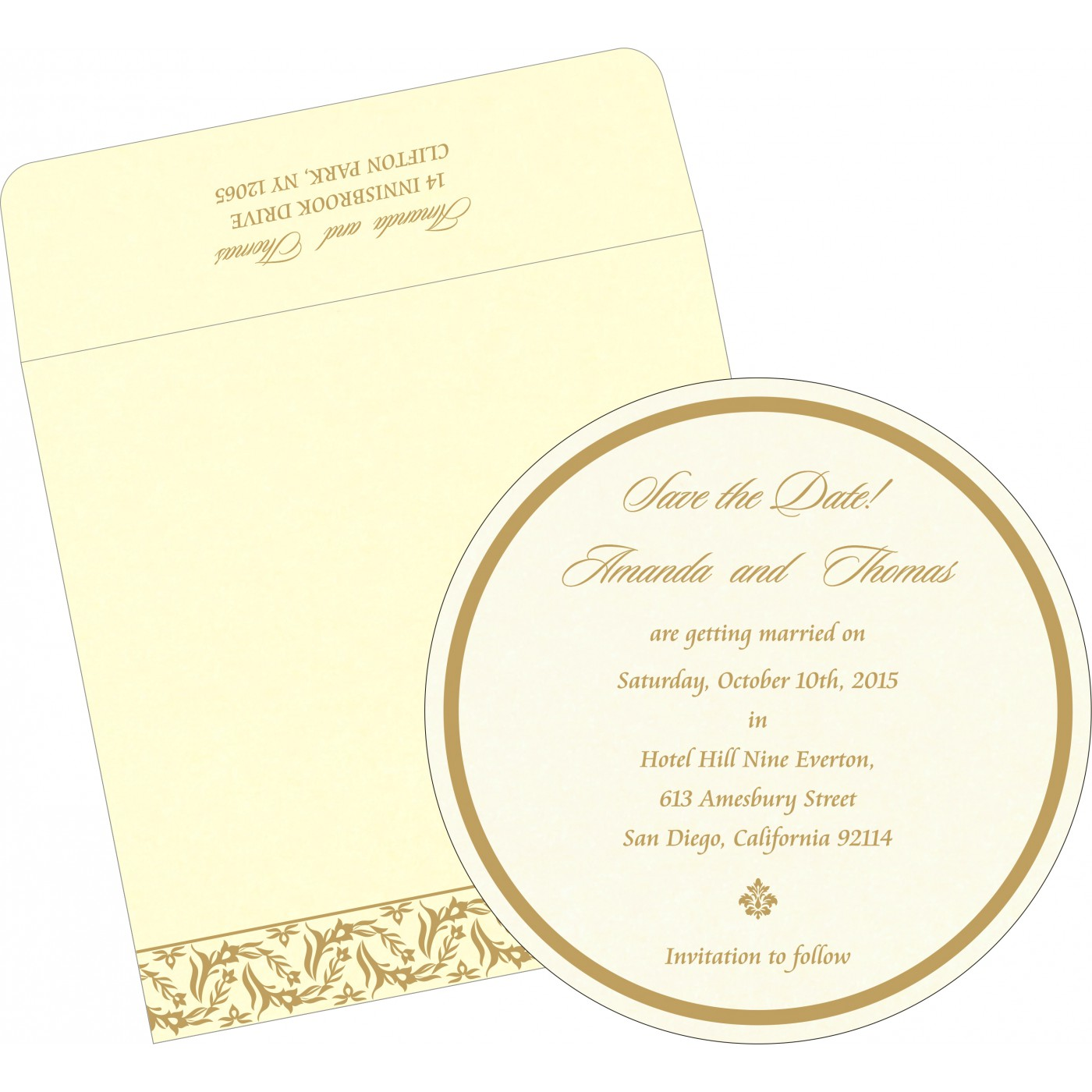 Save The Date : CSTD-8249B - IndianWeddingCards