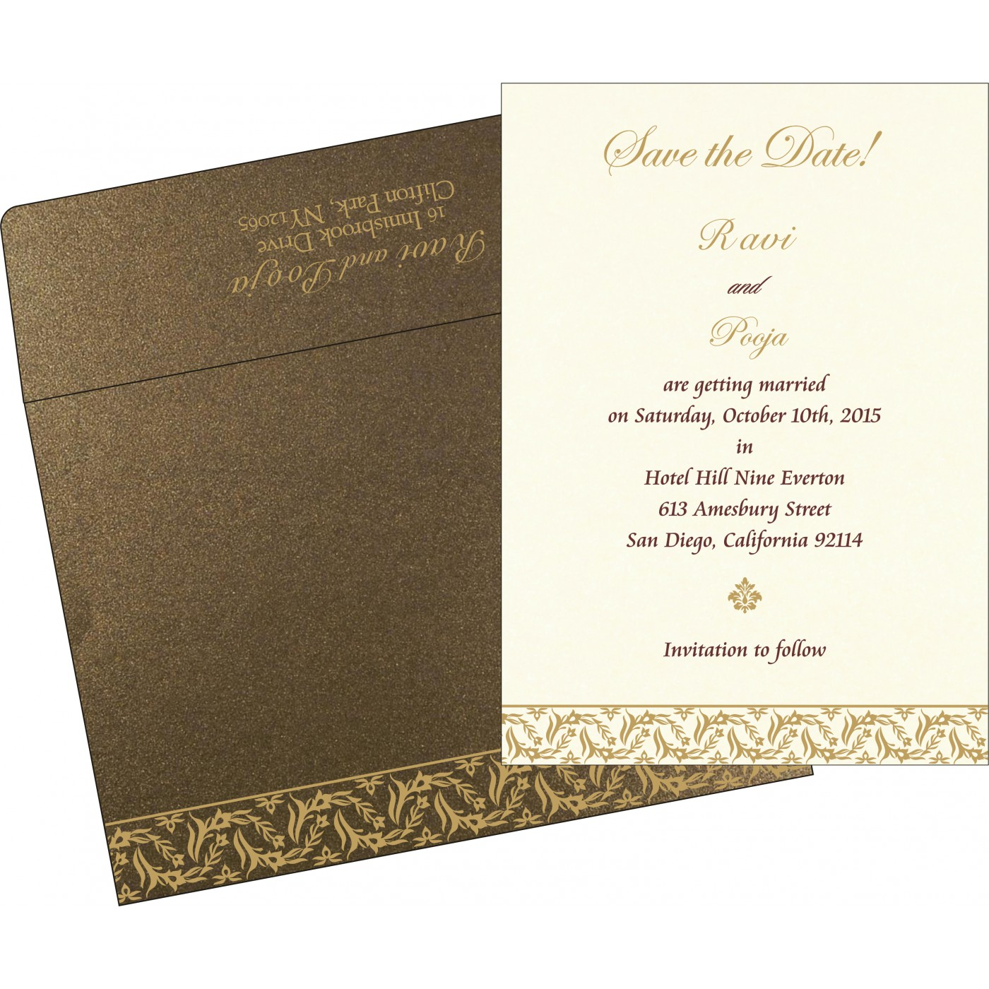 Save The Date : CSTD-8249J - IndianWeddingCards