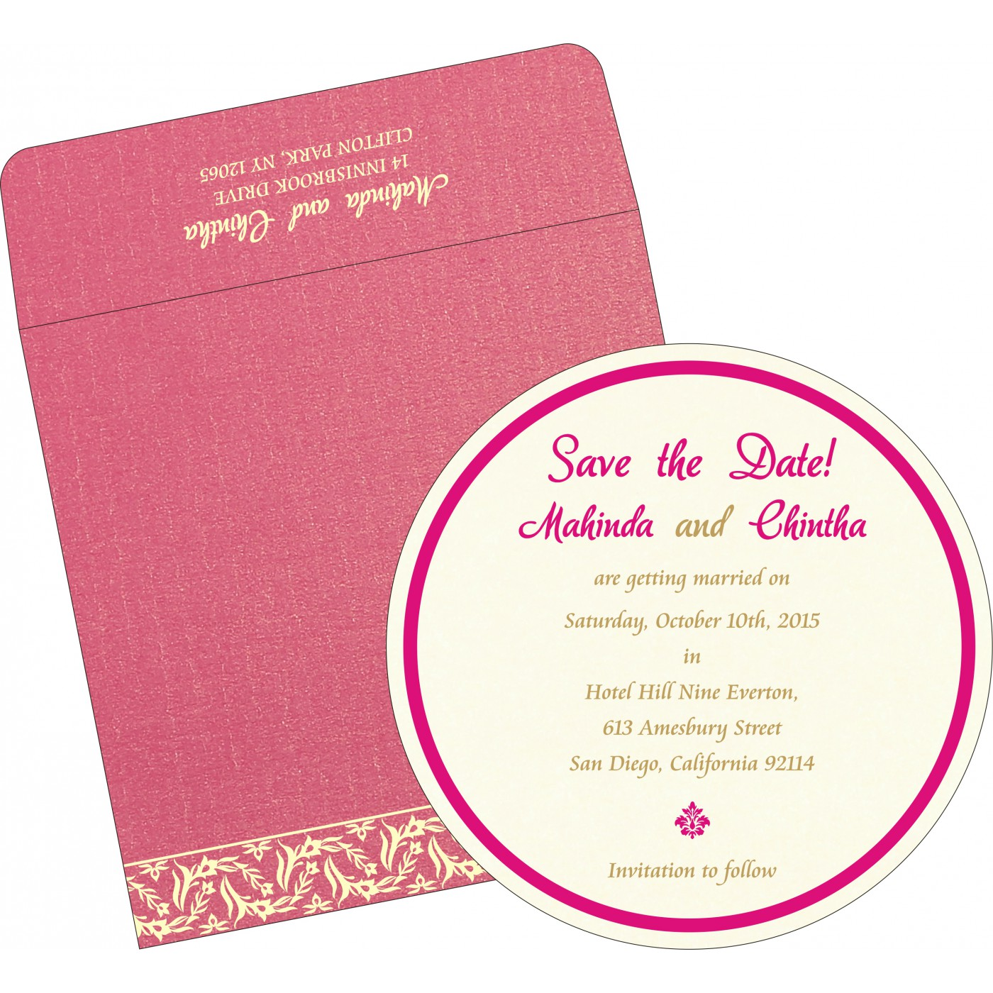 Save The Date : CSTD-8249K - IndianWeddingCards
