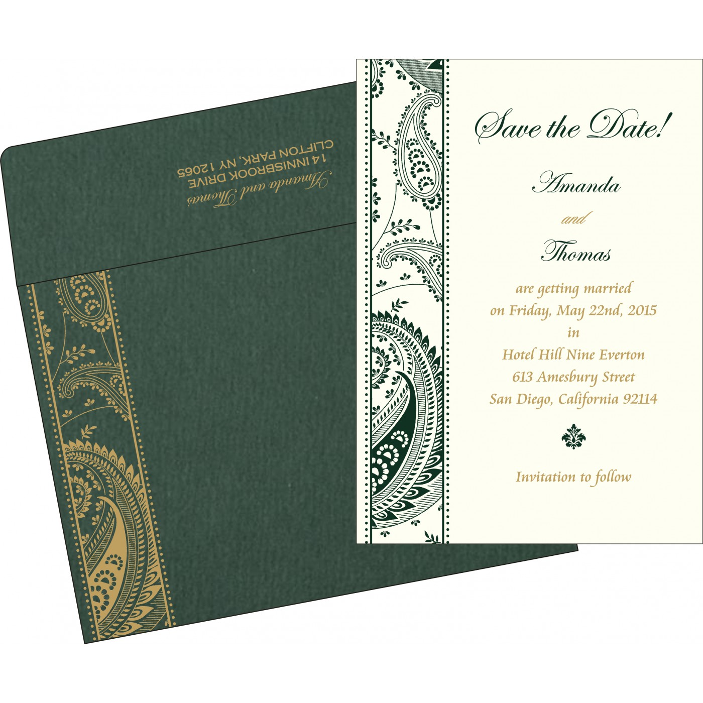 Save The Date : CSTD-8250C - IndianWeddingCards
