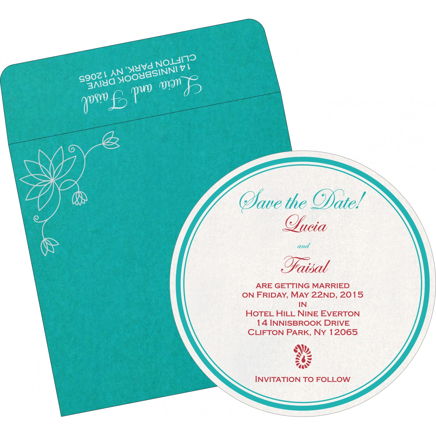 Save The Date : CSTD-8251A - IndianWeddingCards