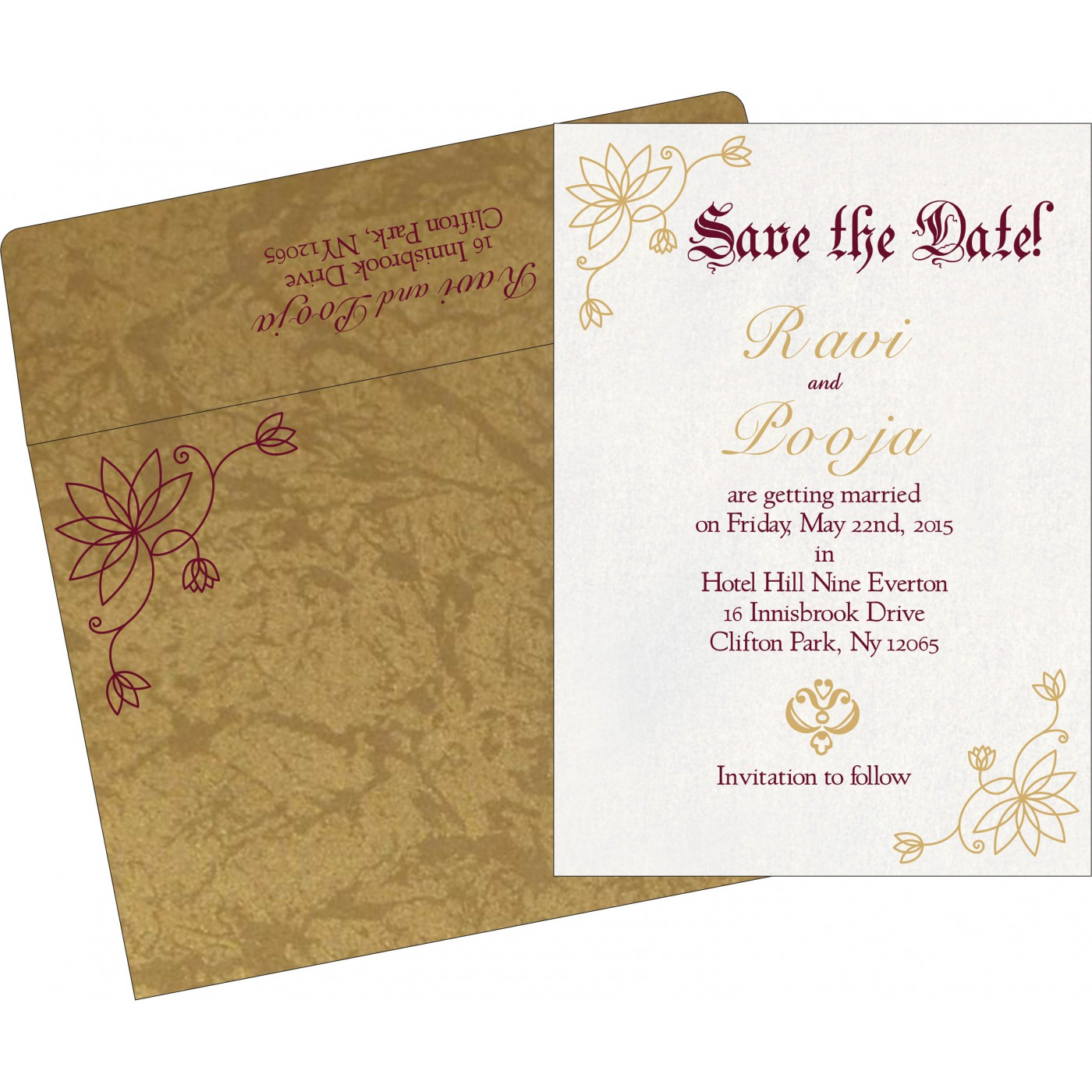 Save The Date : CSTD-8251E - IndianWeddingCards