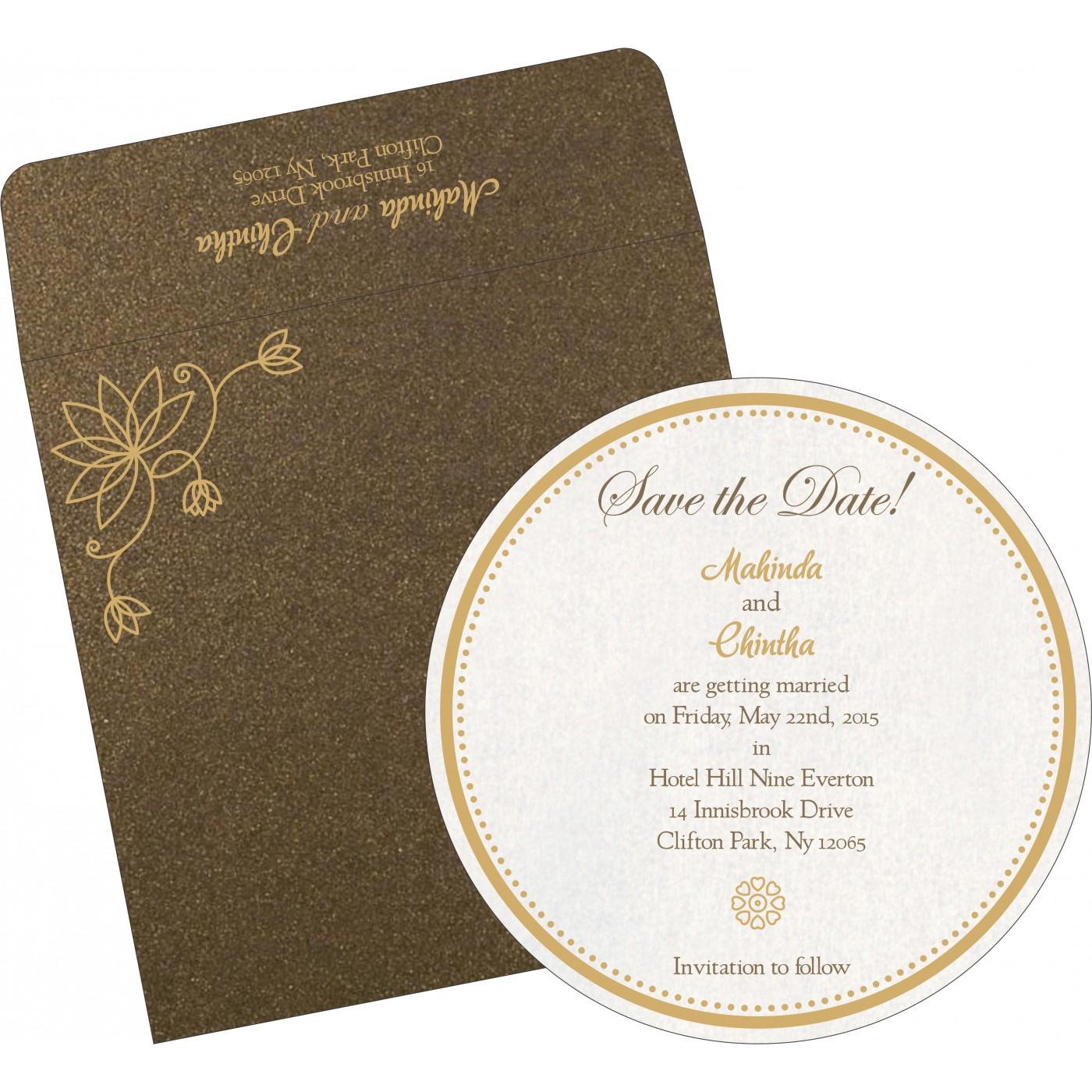 Save The Date : CSTD-8251F - IndianWeddingCards
