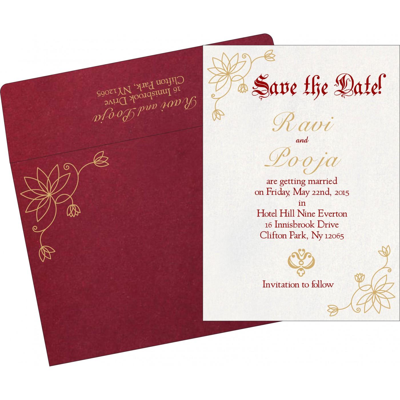 Save The Date : CSTD-8251L - IndianWeddingCards