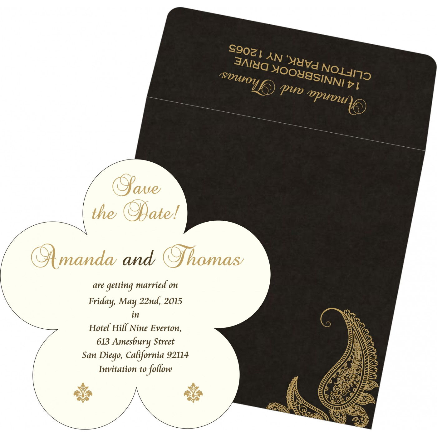 Save The Date : CSTD-8252C - IndianWeddingCards