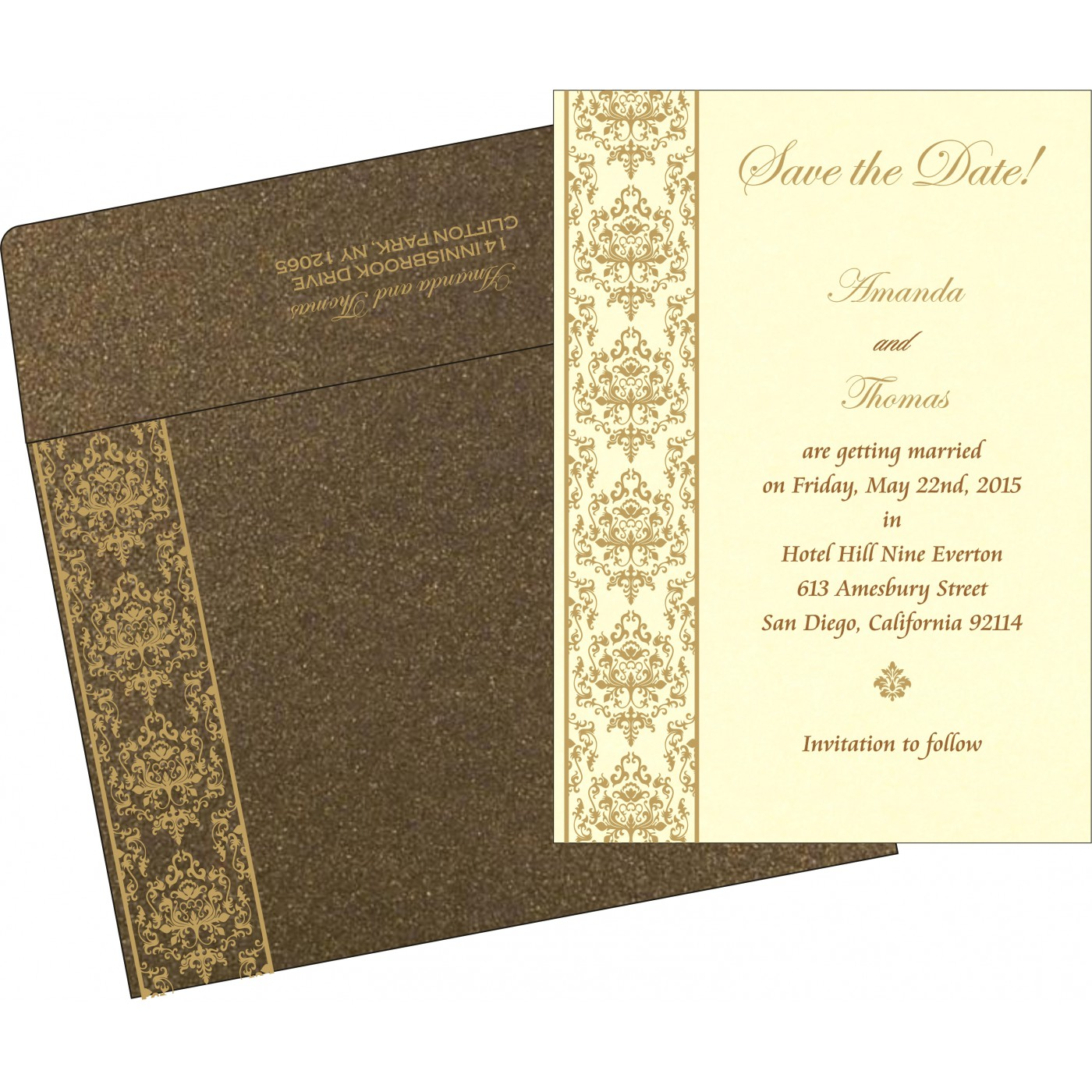 Save The Date : CSTD-8253A - IndianWeddingCards