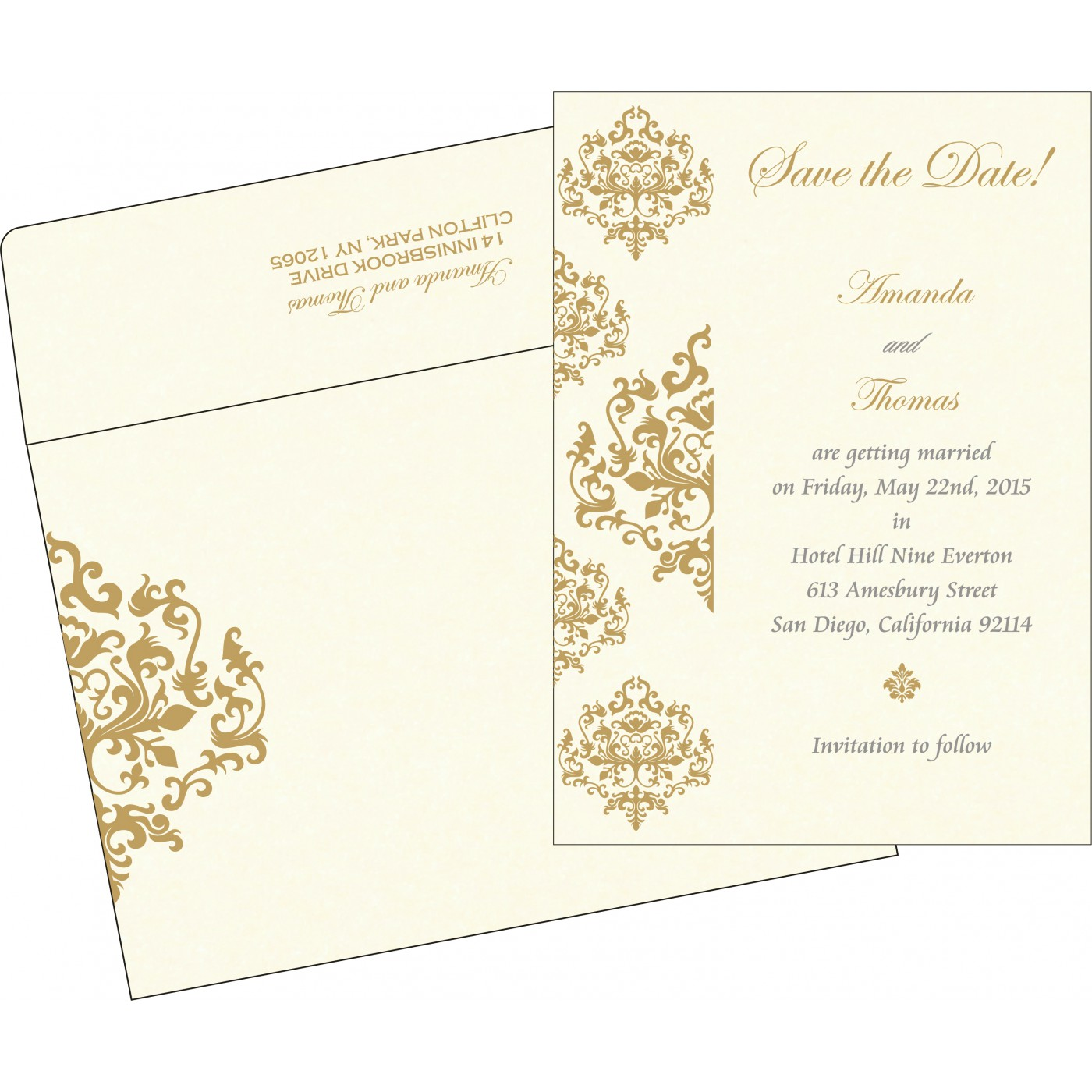 Save The Date : CSTD-8254A - IndianWeddingCards