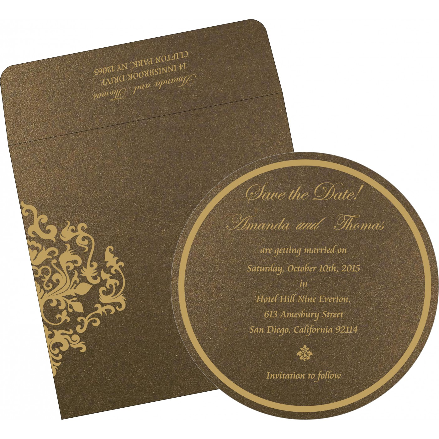 Save The Date : CSTD-8254F - IndianWeddingCards
