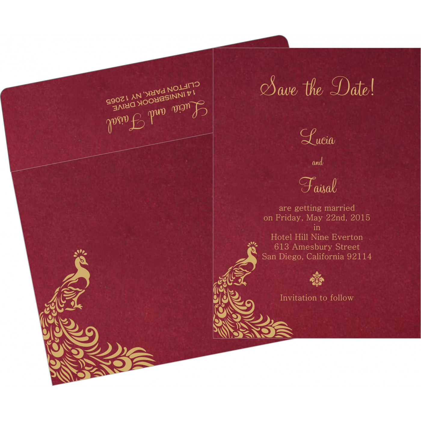 Save The Date : CSTD-8255A - IndianWeddingCards