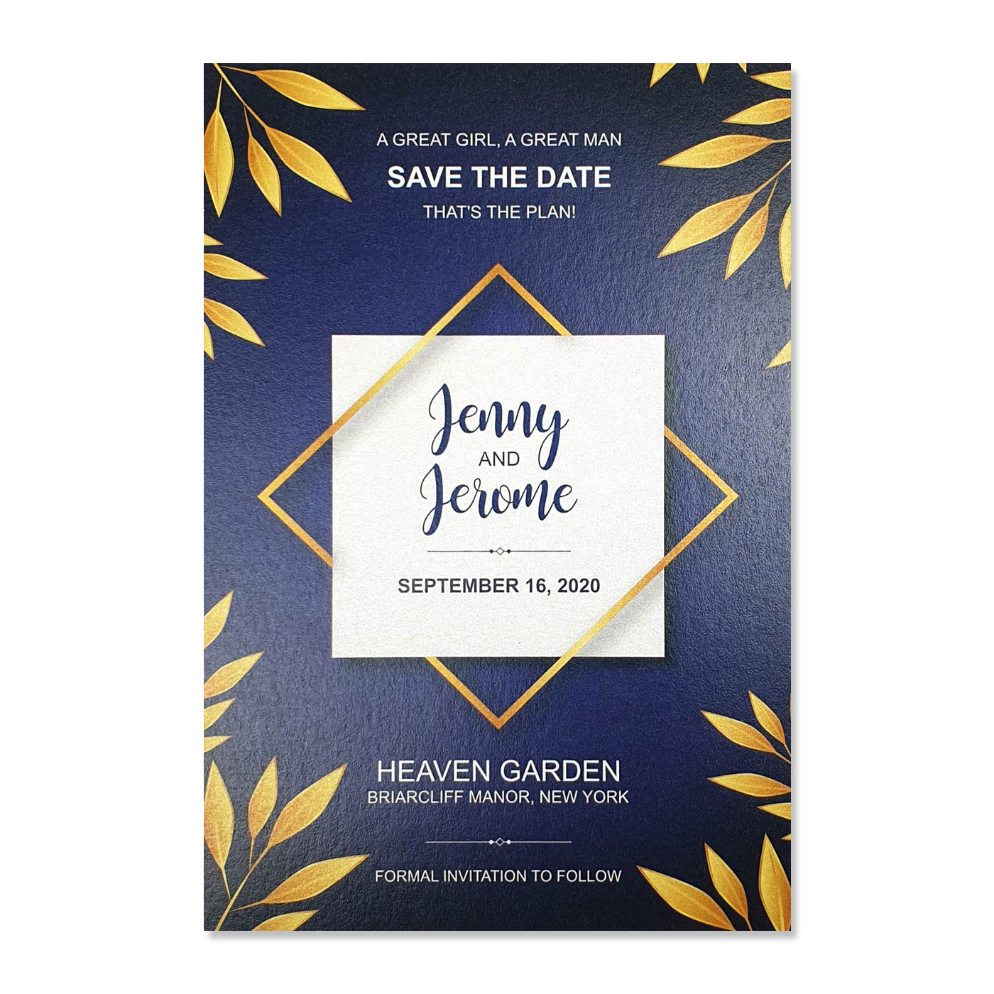 Save The Date : CSTD-COBALT - IndianWeddingCards