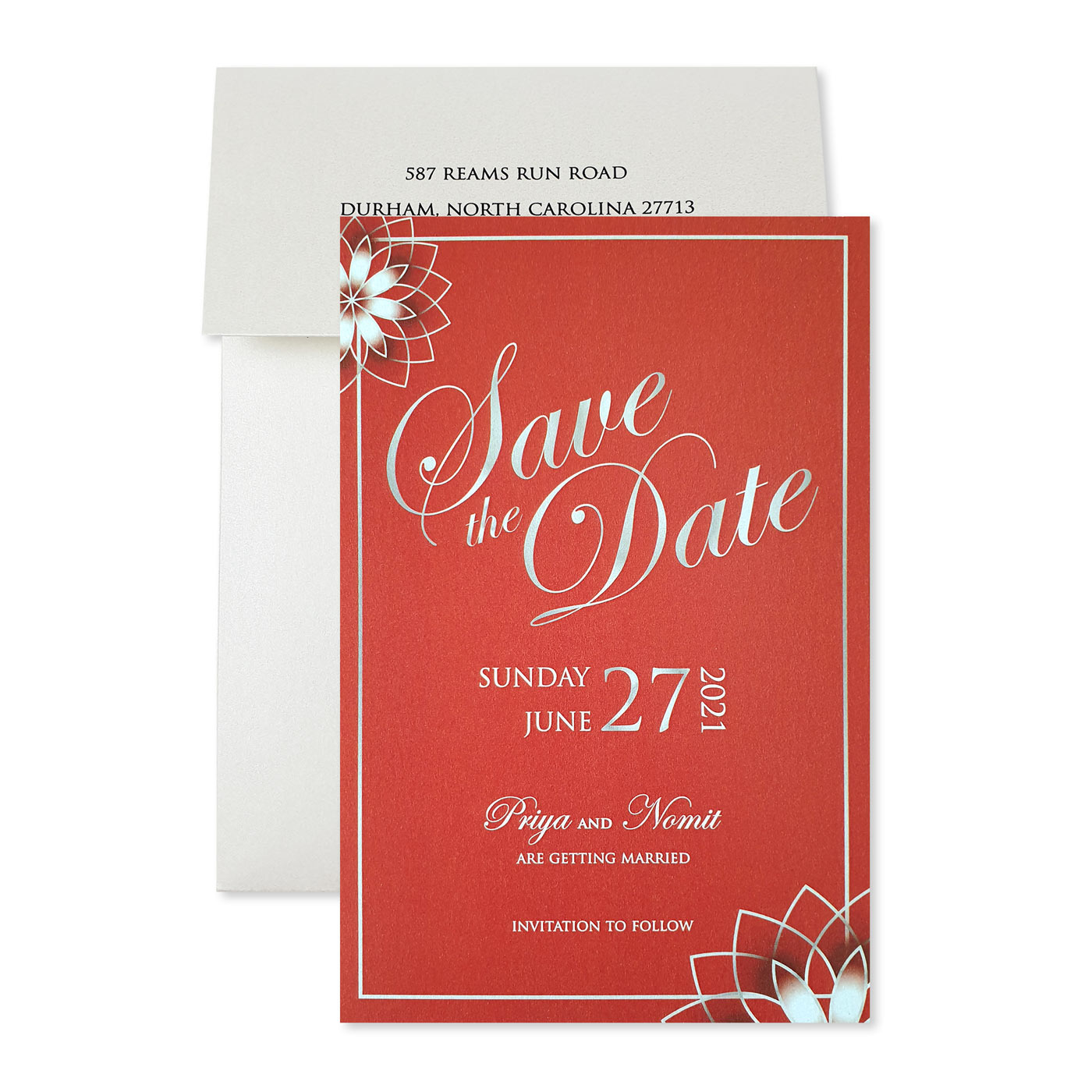Save The Date : CSTD-ROSE_OUTLINE - IndianWeddingCards