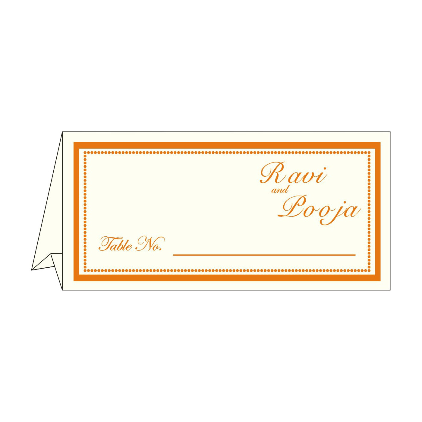 Table Cards : CTC-1183 - IndianWeddingCards
