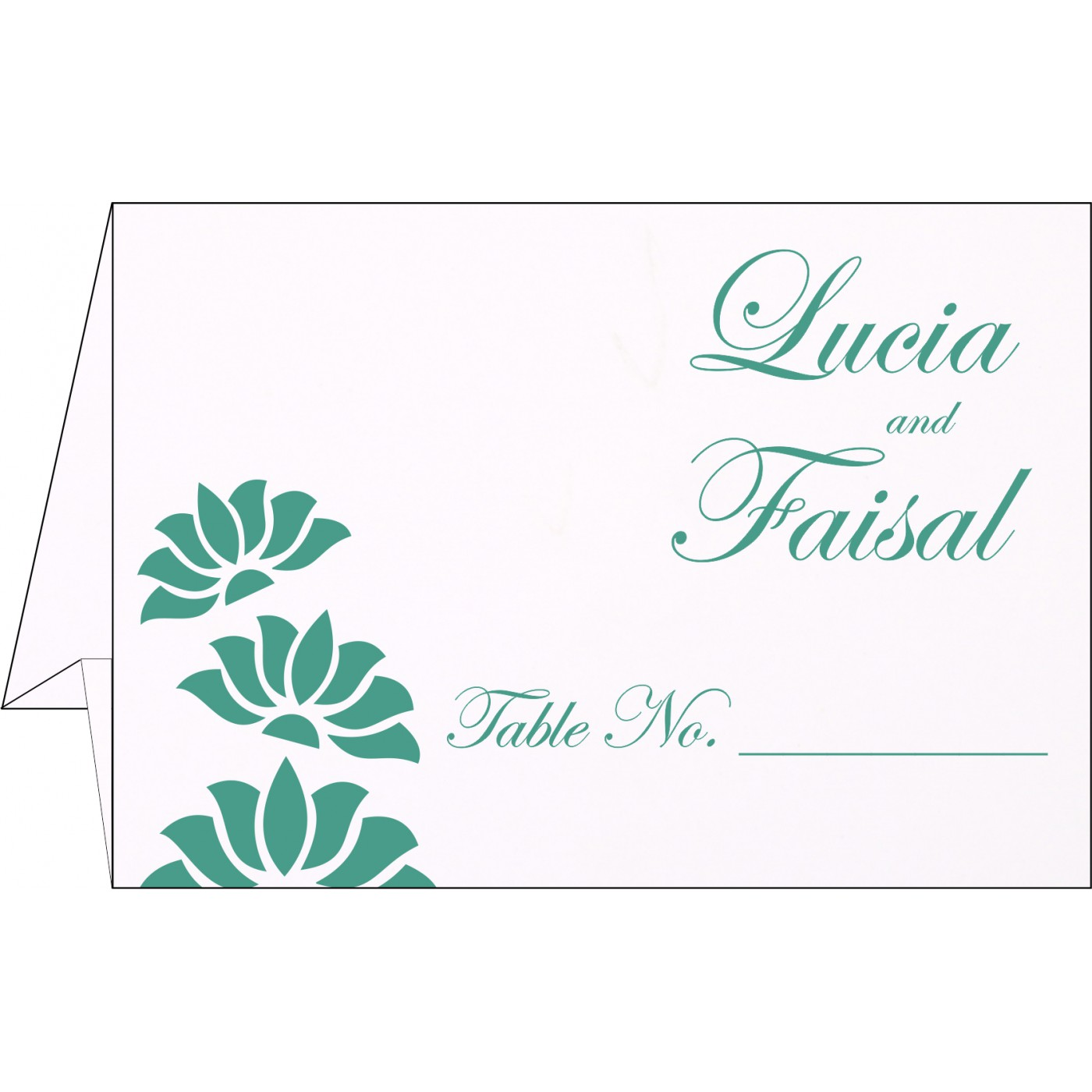 Table Cards : CTC-1254 - IndianWeddingCards