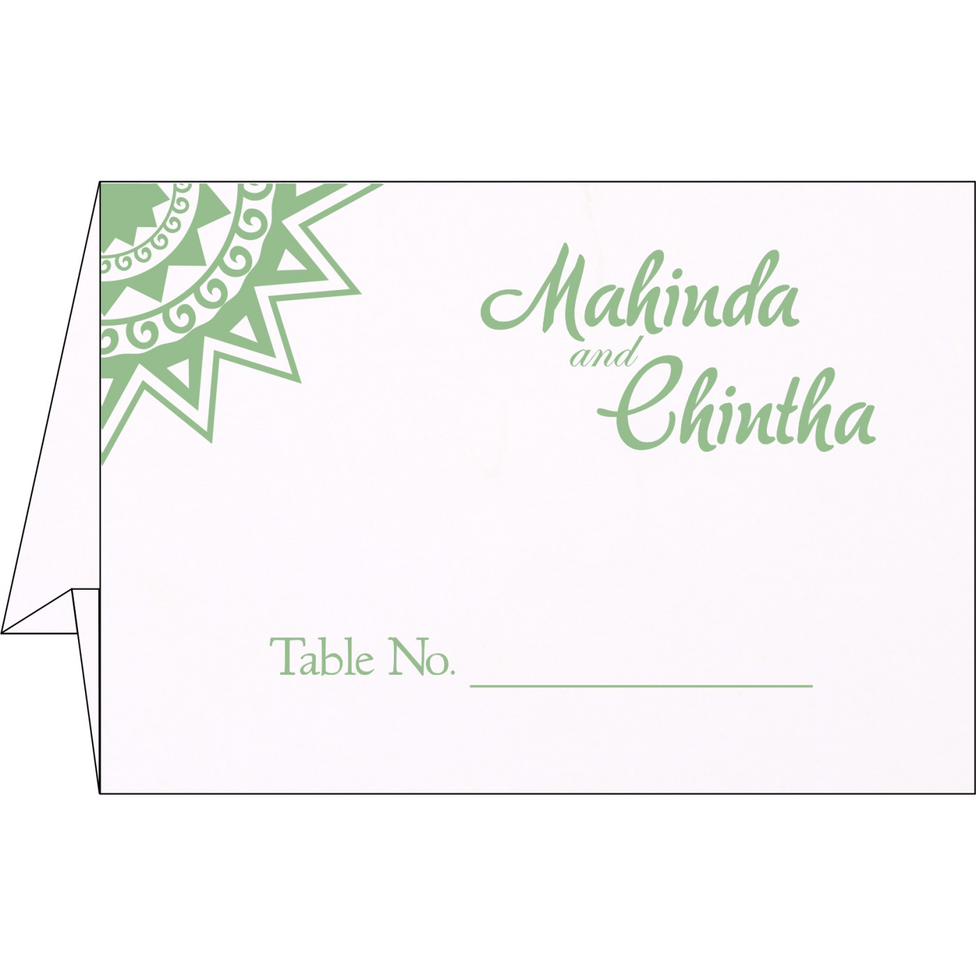 Table Cards : CTC-1266 - IndianWeddingCards
