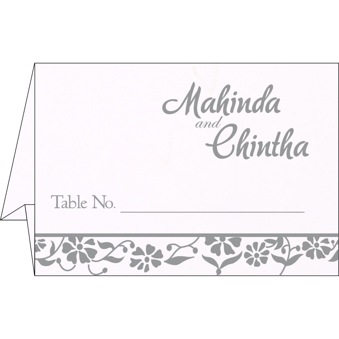Table Cards : CTC-1291 - IndianWeddingCards