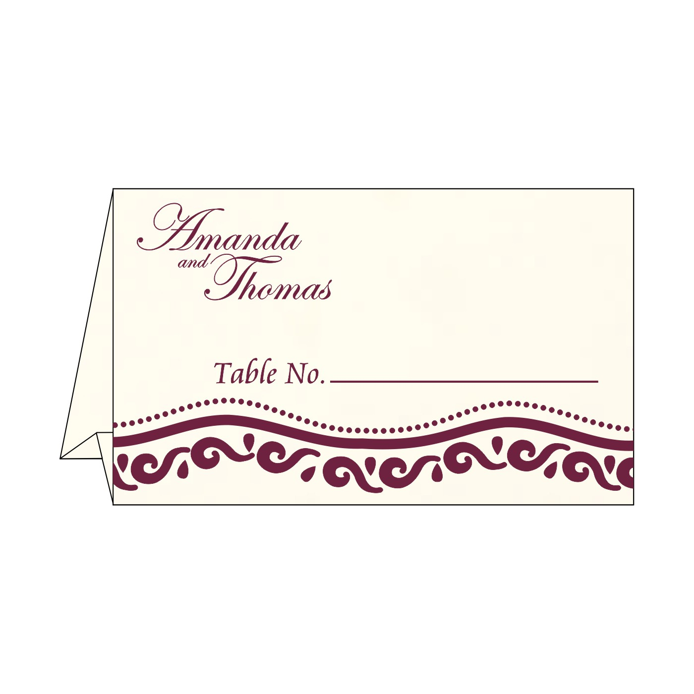 Table Cards : CTC-1375 - IndianWeddingCards