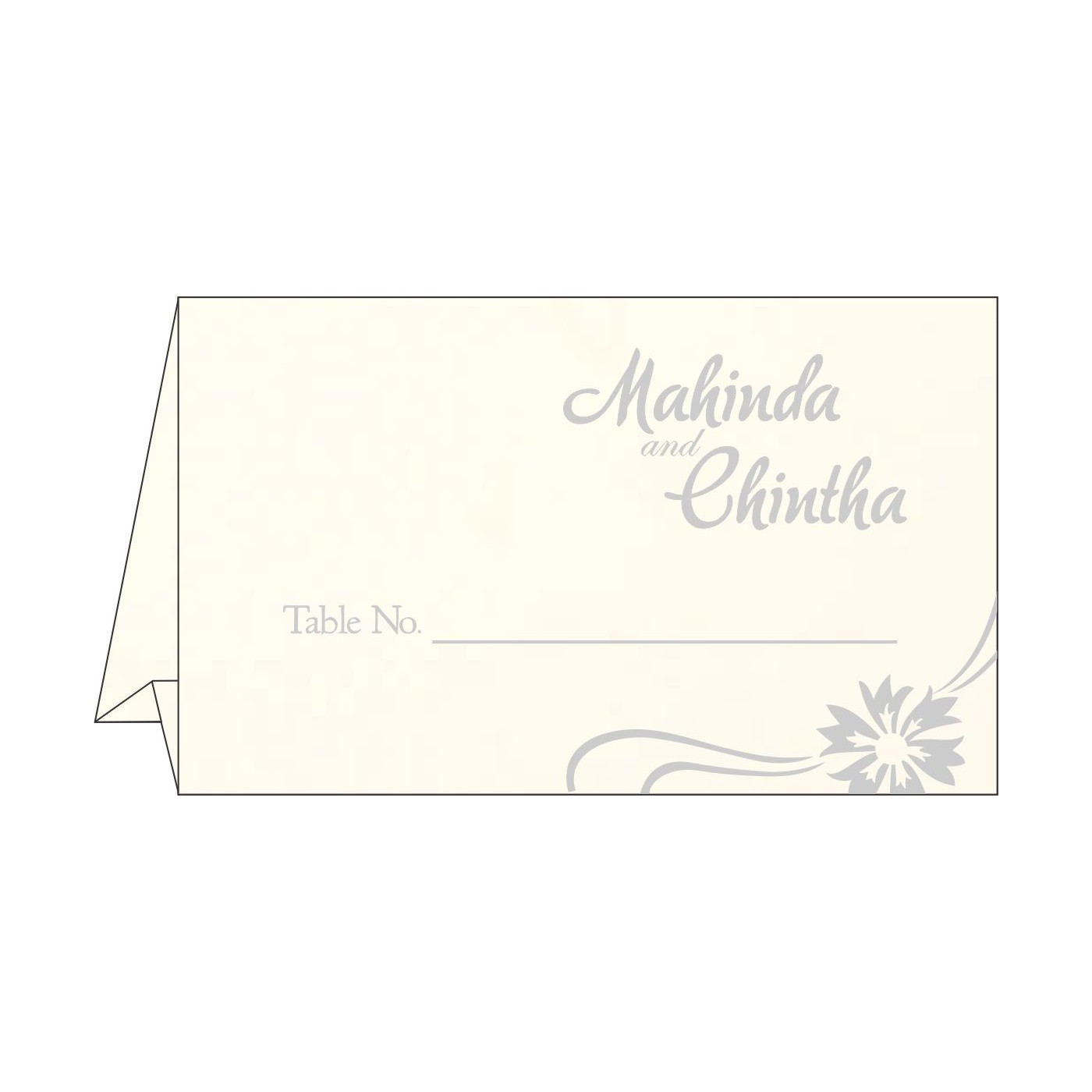 Table Cards : CTC-1380 - IndianWeddingCards