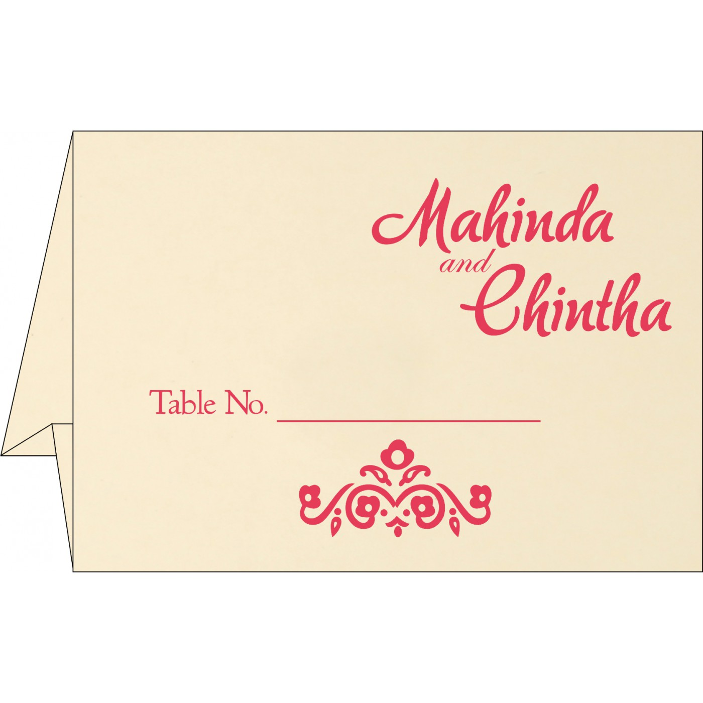 Table Cards : CTC-1407 - IndianWeddingCards