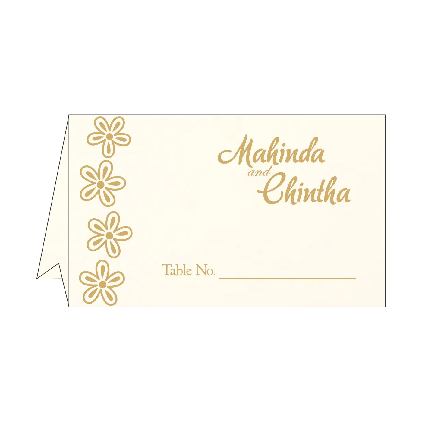 Table Cards : CTC-1439 - IndianWeddingCards