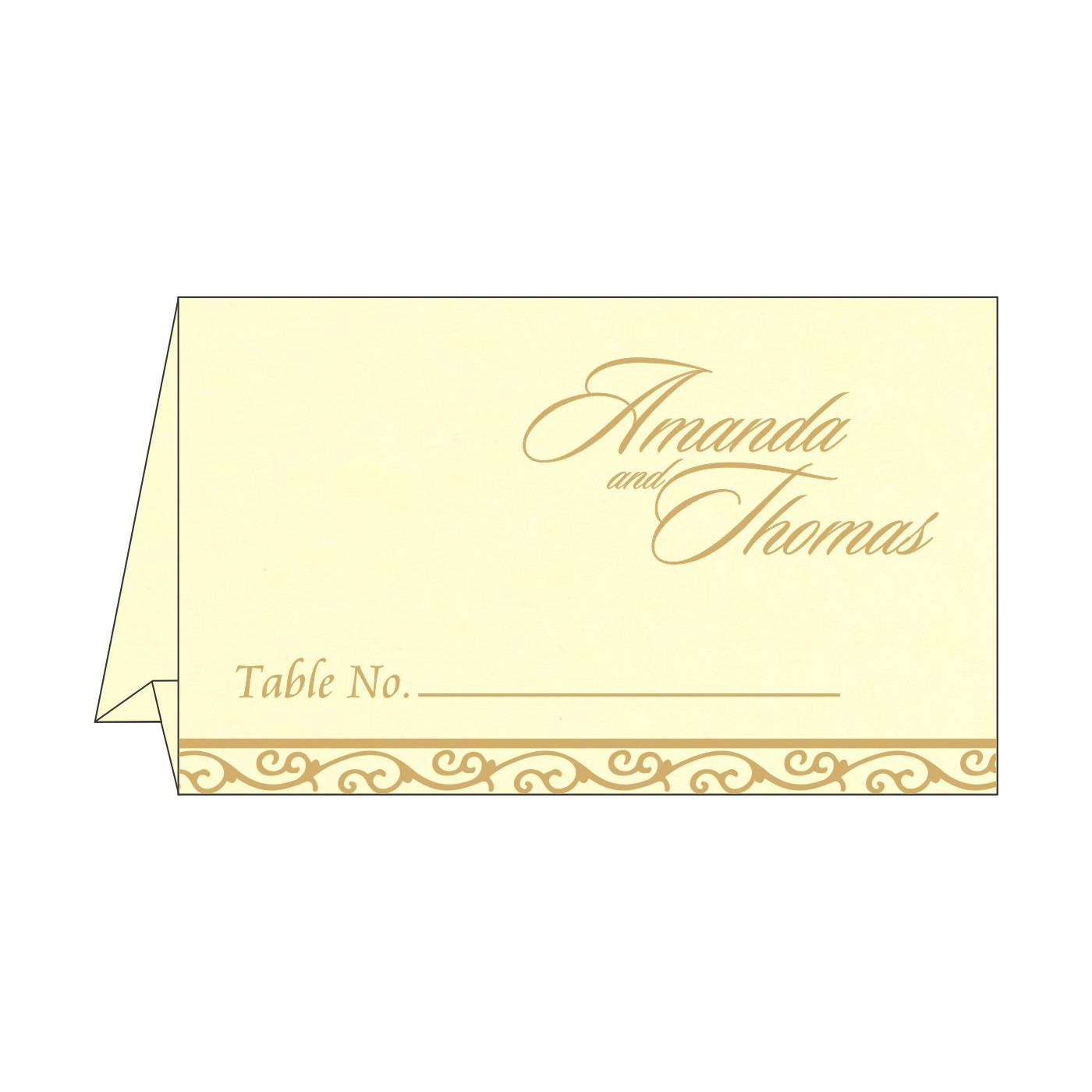 Table Cards : CTC-2005 - IndianWeddingCards