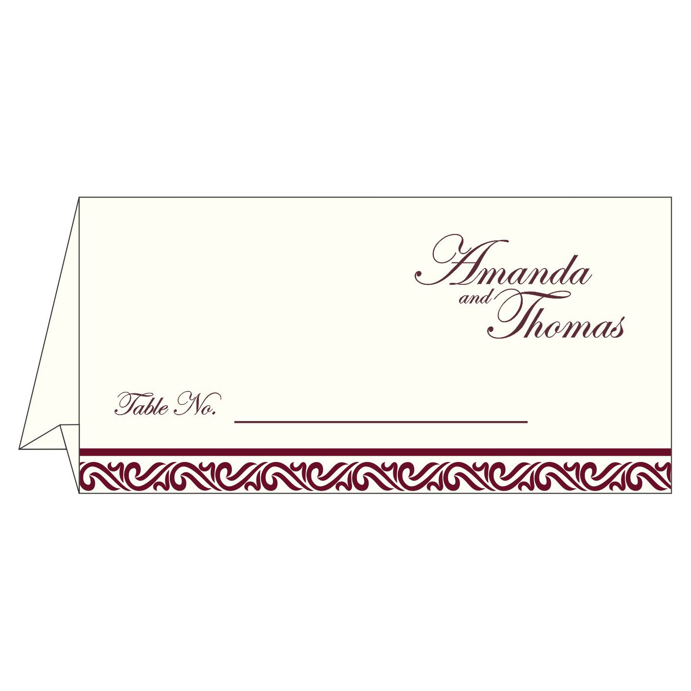 Table Cards : CTC-2077 - IndianWeddingCards