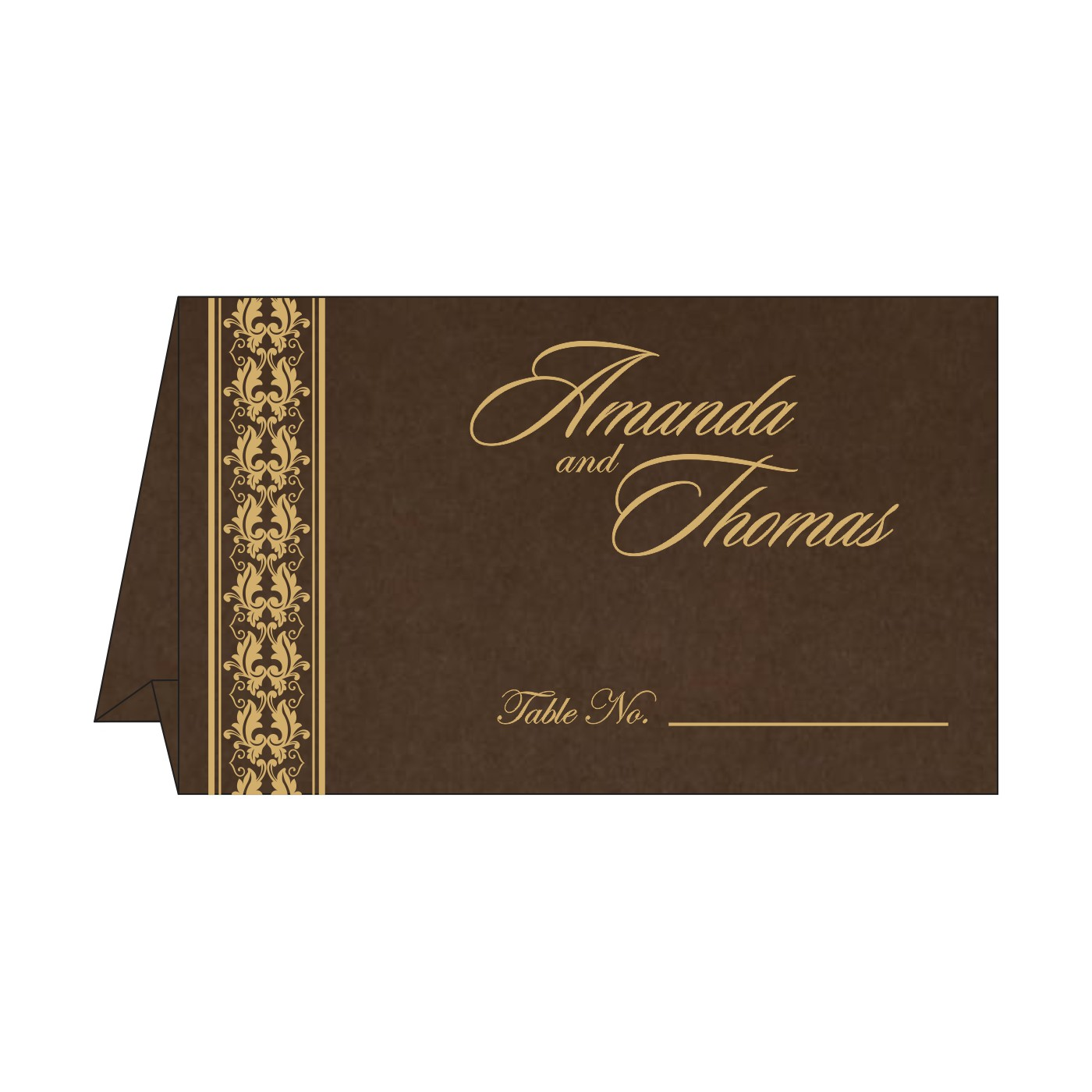 Table Cards : CTC-5010G - IndianWeddingCards