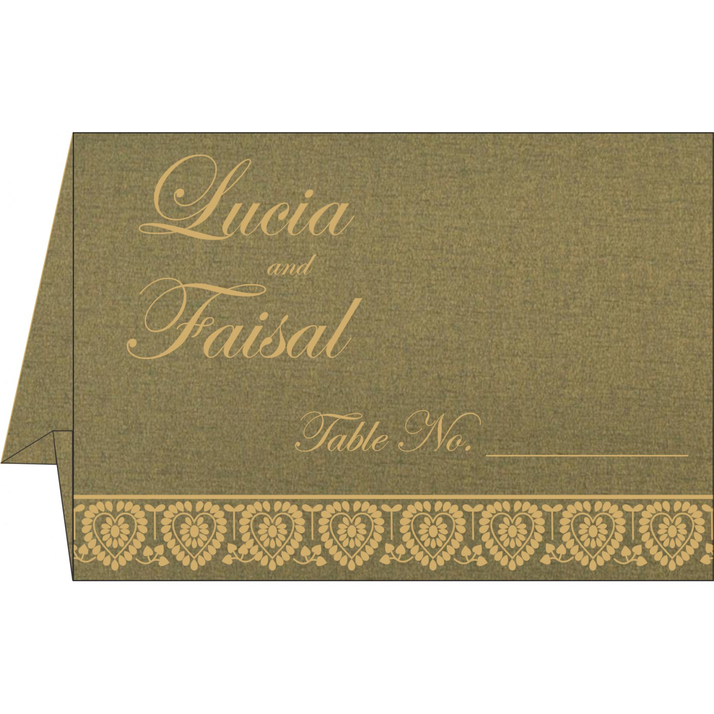 Table Cards : CTC-5012A - IndianWeddingCards