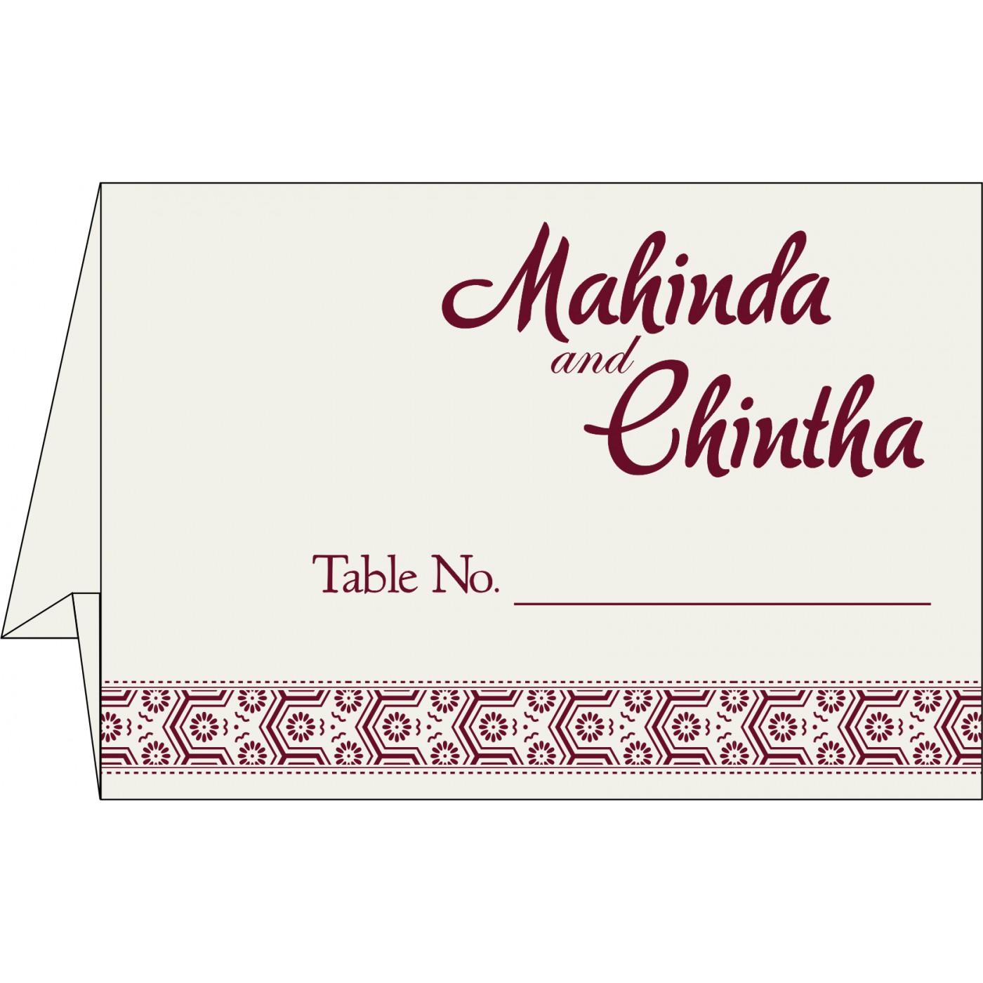 Table Cards : CTC-5014J - IndianWeddingCards