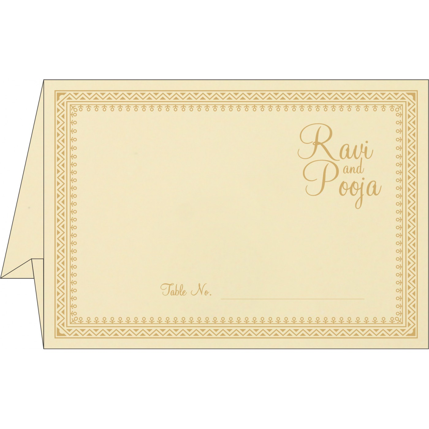 Table Cards : CTC-8205K - IndianWeddingCards