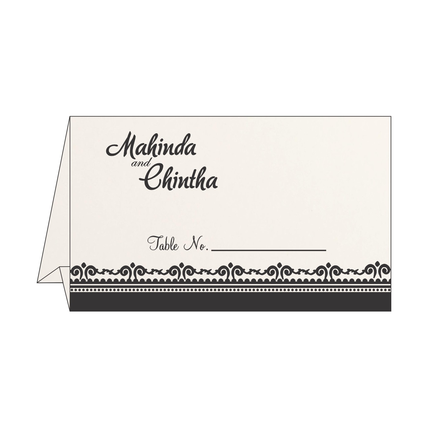 Table Cards : CTC-8205L - IndianWeddingCards