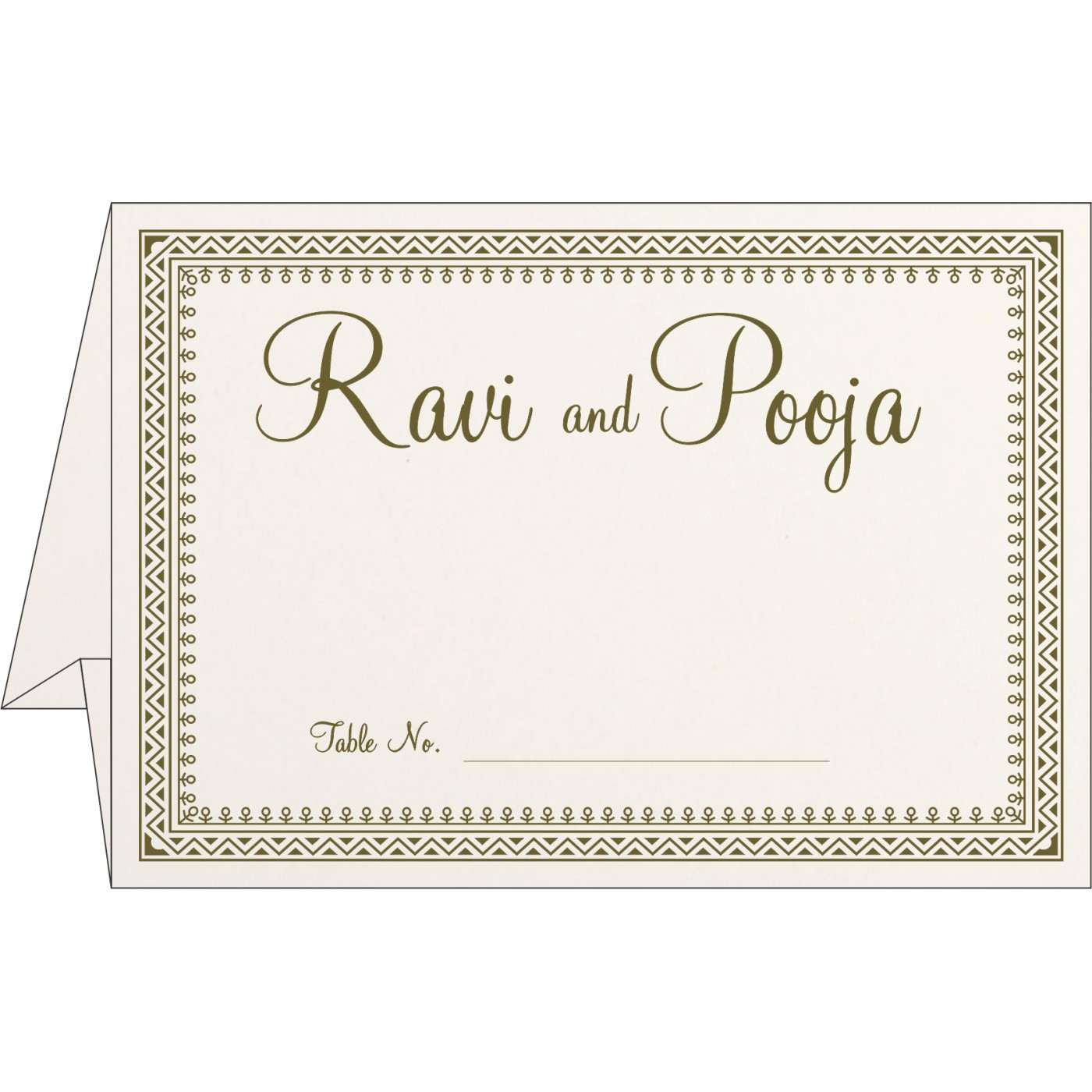 Table Cards : CTC-8205Q - IndianWeddingCards
