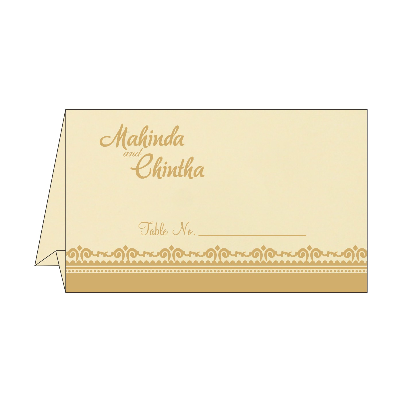 Table Cards : CTC-8205R - IndianWeddingCards