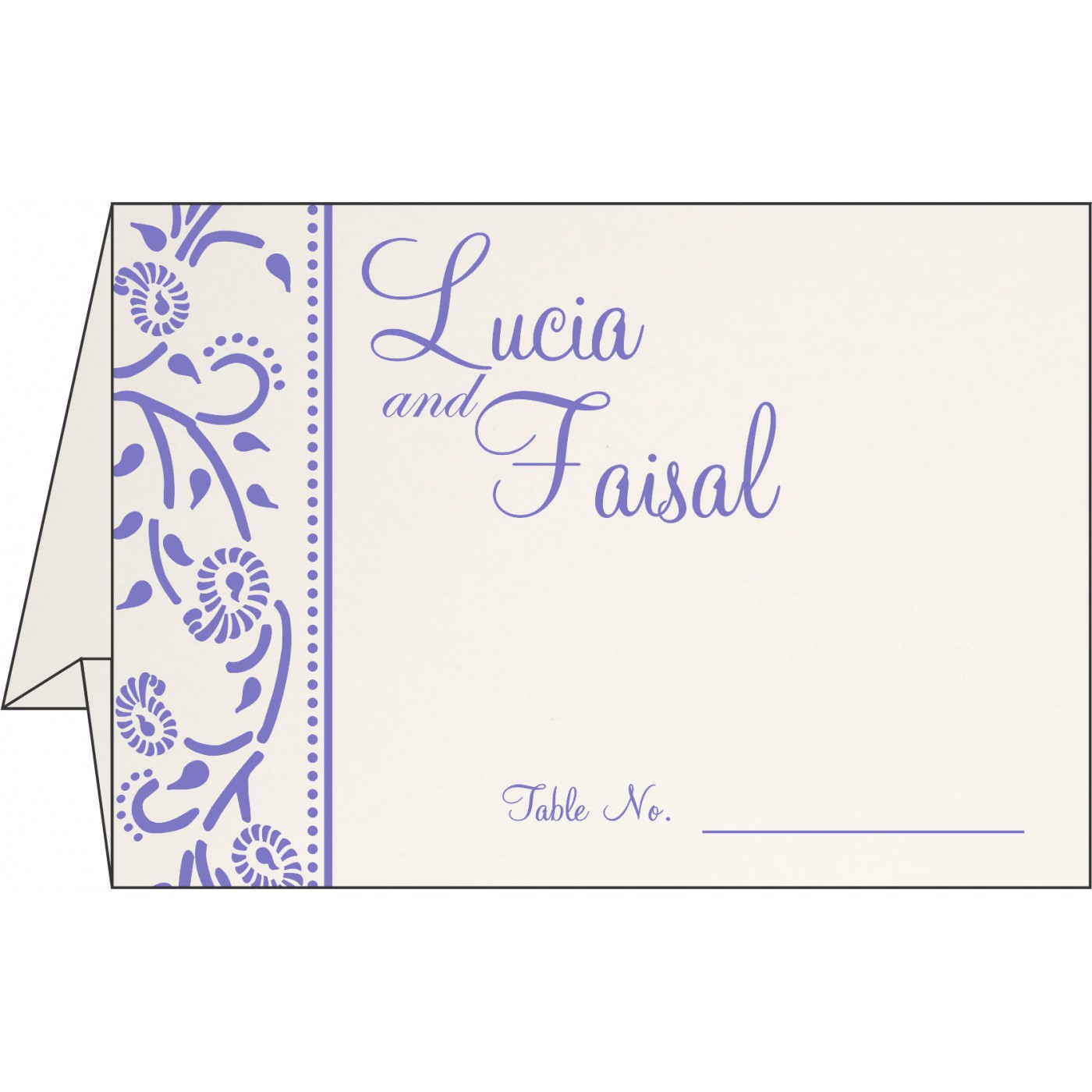 Table Cards : CTC-8206A - IndianWeddingCards