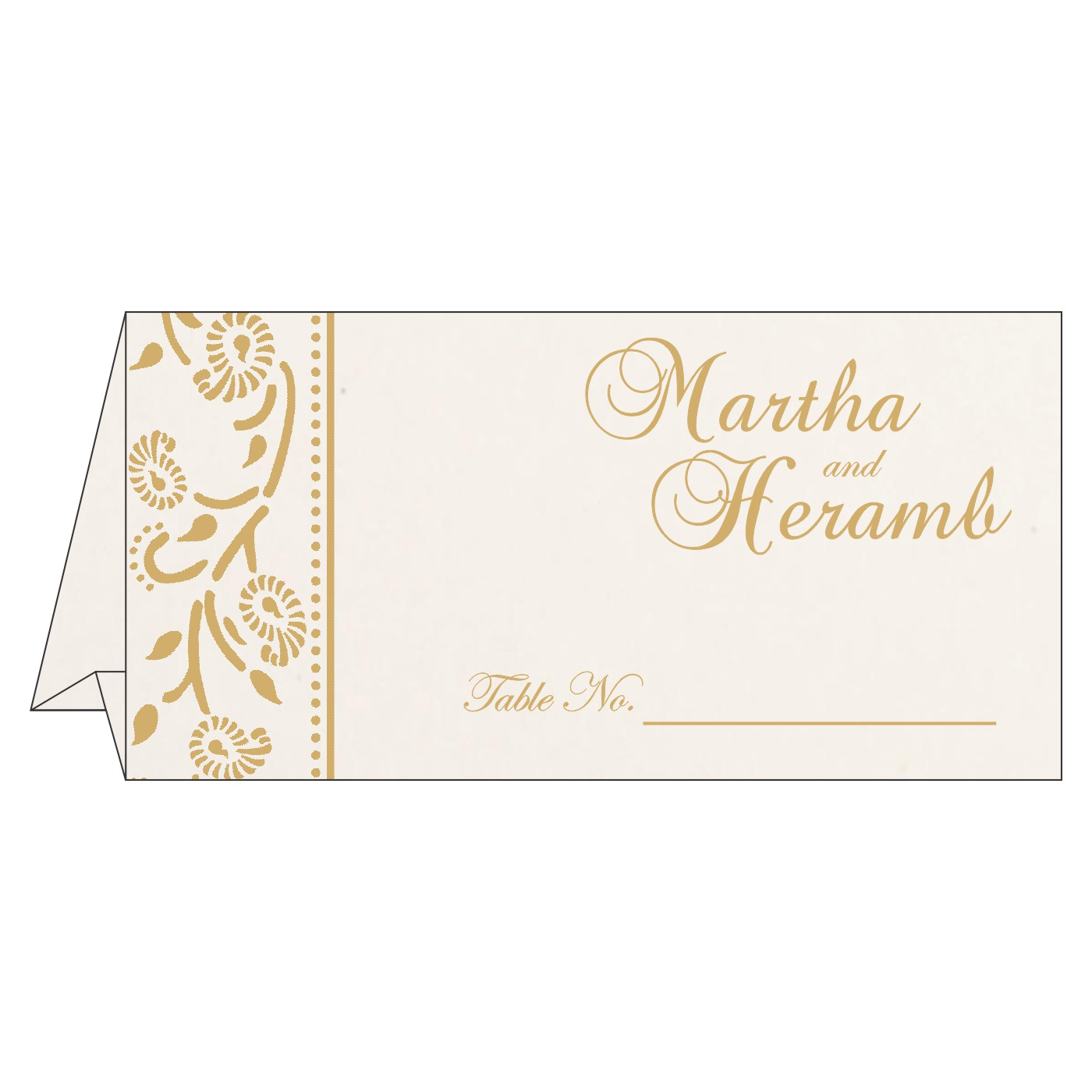 Table Cards : CTC-8206D - IndianWeddingCards