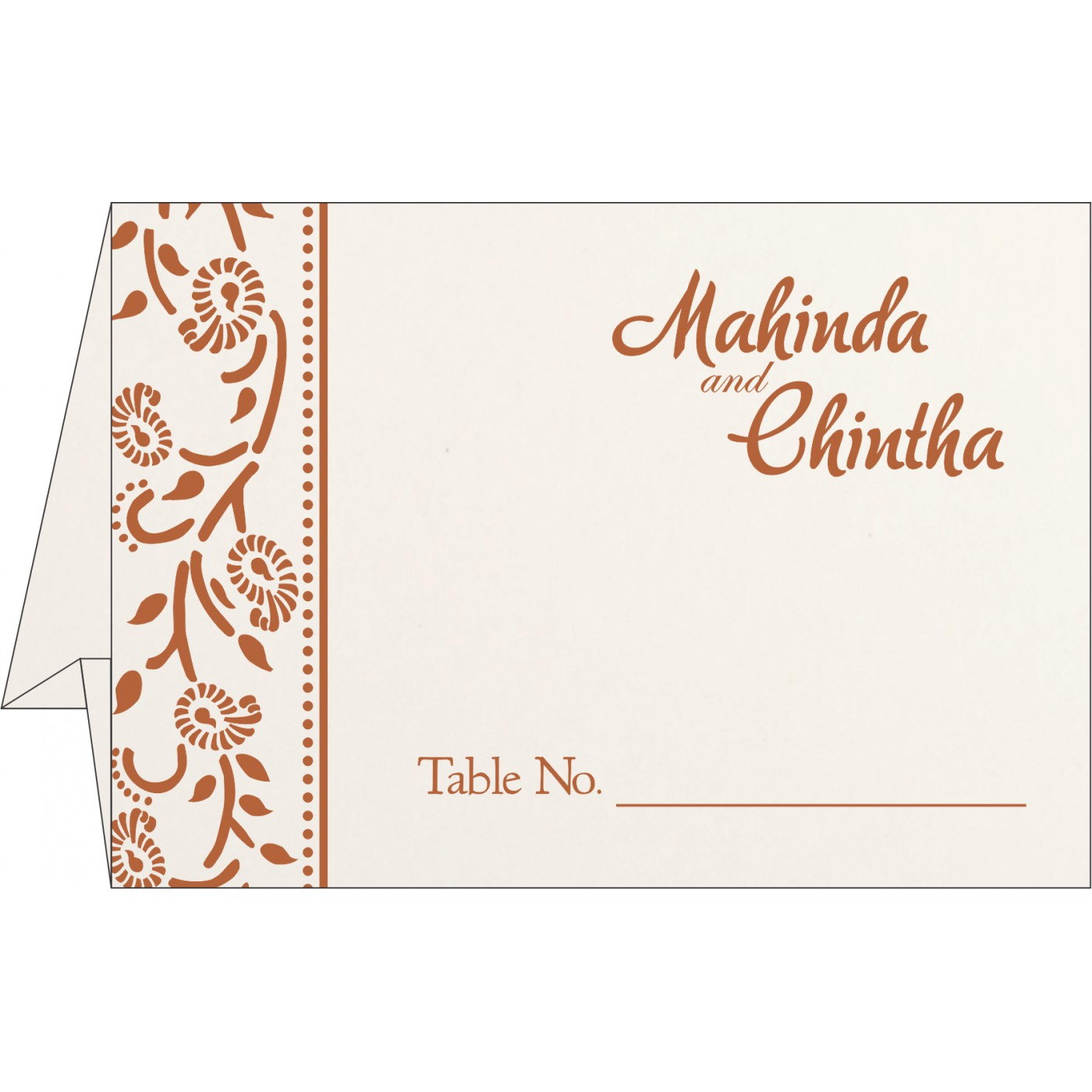 Table Cards : CTC-8206G - IndianWeddingCards