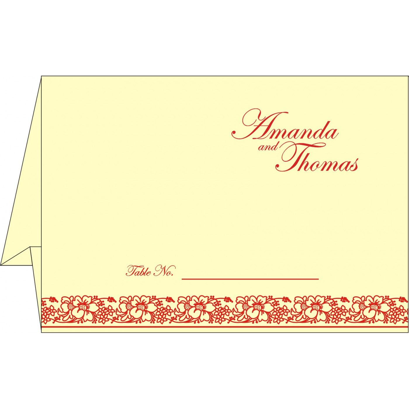 Table Cards : CTC-8207A - IndianWeddingCards