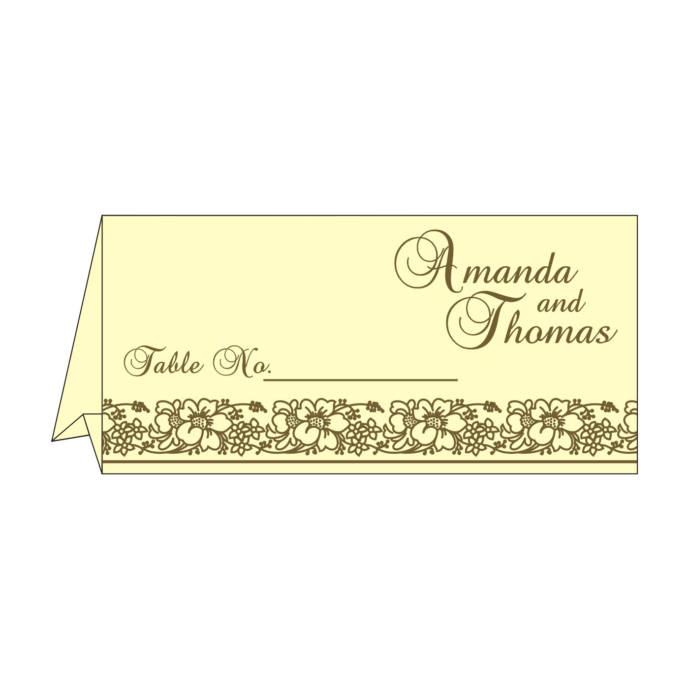 Table Cards : CTC-8207H - IndianWeddingCards