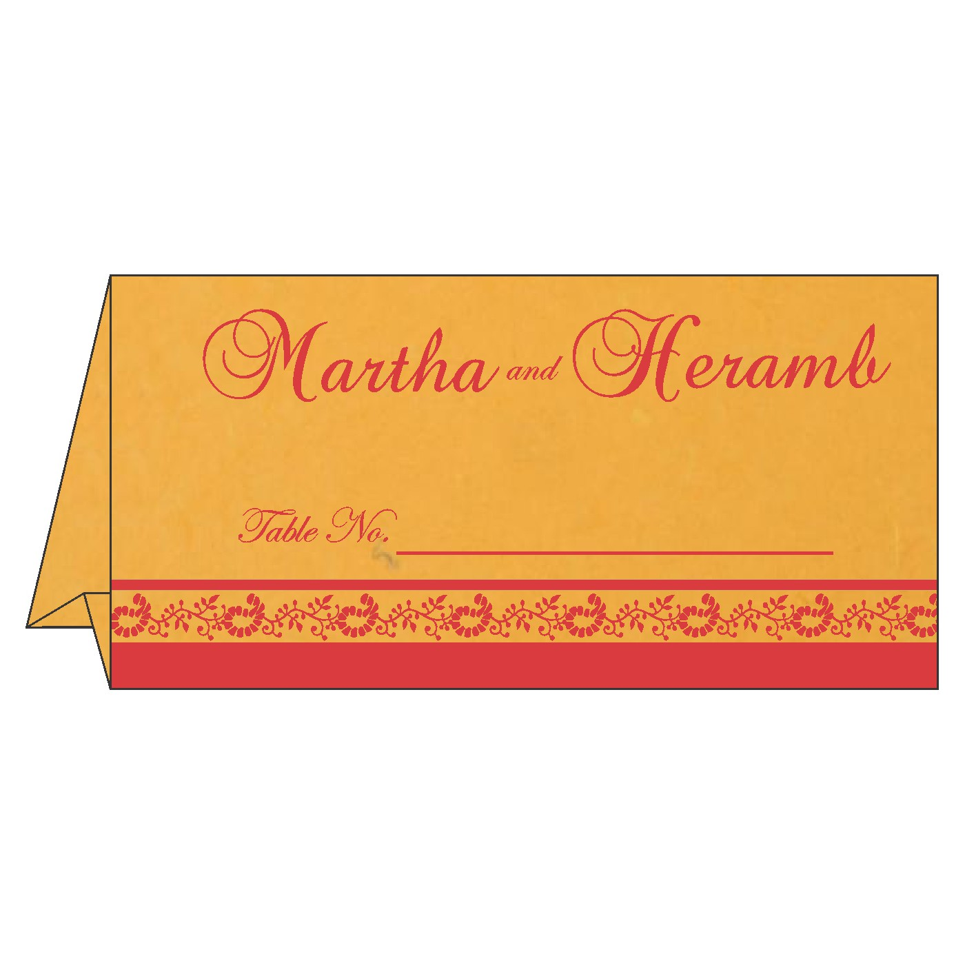 Table Cards : CTC-8208C - IndianWeddingCards